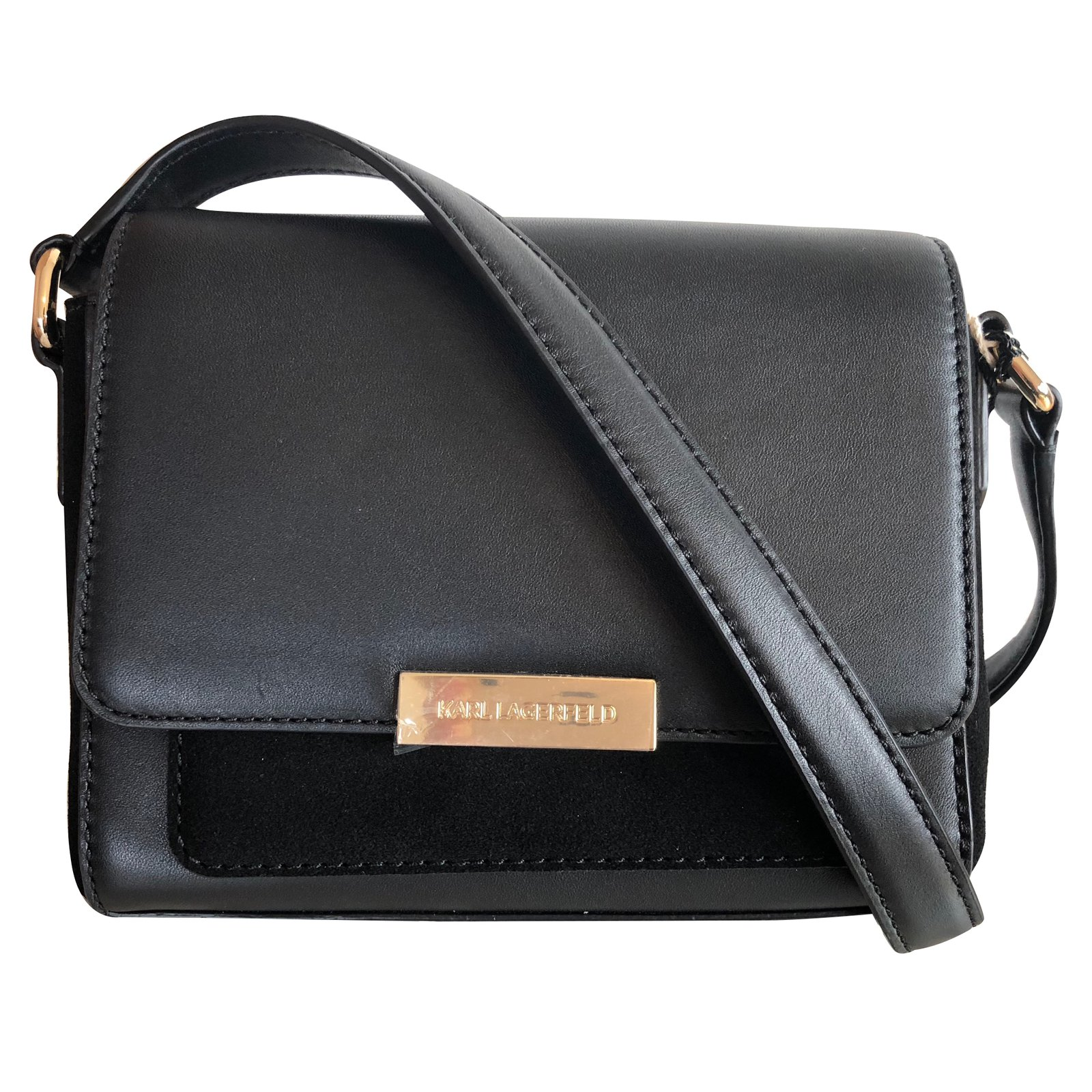 eb7147efa5 Karl Lagerfeld Handbags Handbags Leather Black Ref88944 Joli Closet