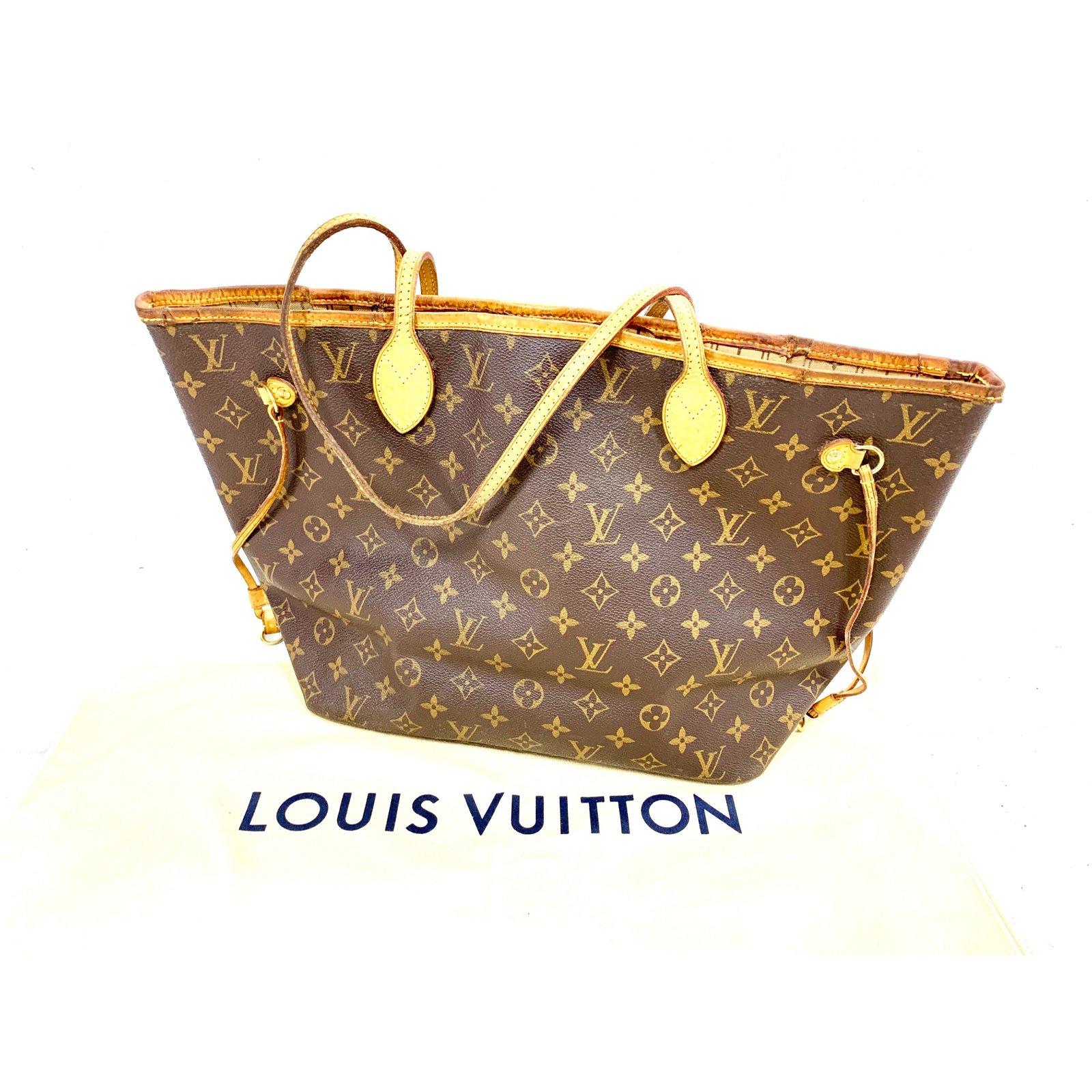 7791b8064ede Louis Vuitton NEVERFULL MM MONOGRAM Handbags Leather Brown ref.89434