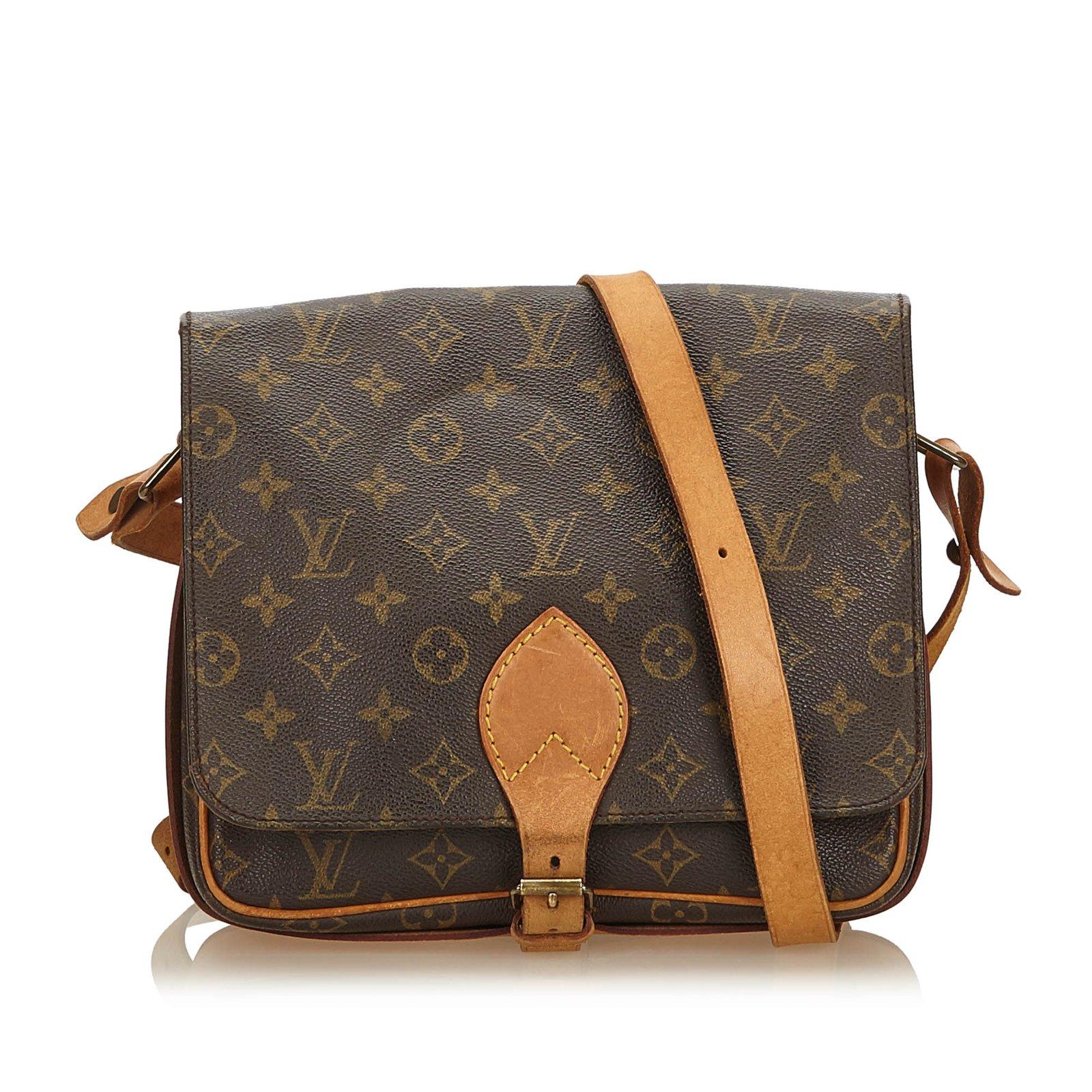 7fe2e2318636 Sacs à main Louis Vuitton Monogram Cartouchiere MM Cuir