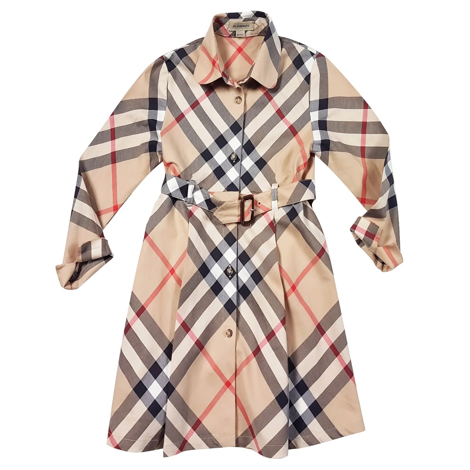 Robes fille Burberry Robes Coton Multicolore