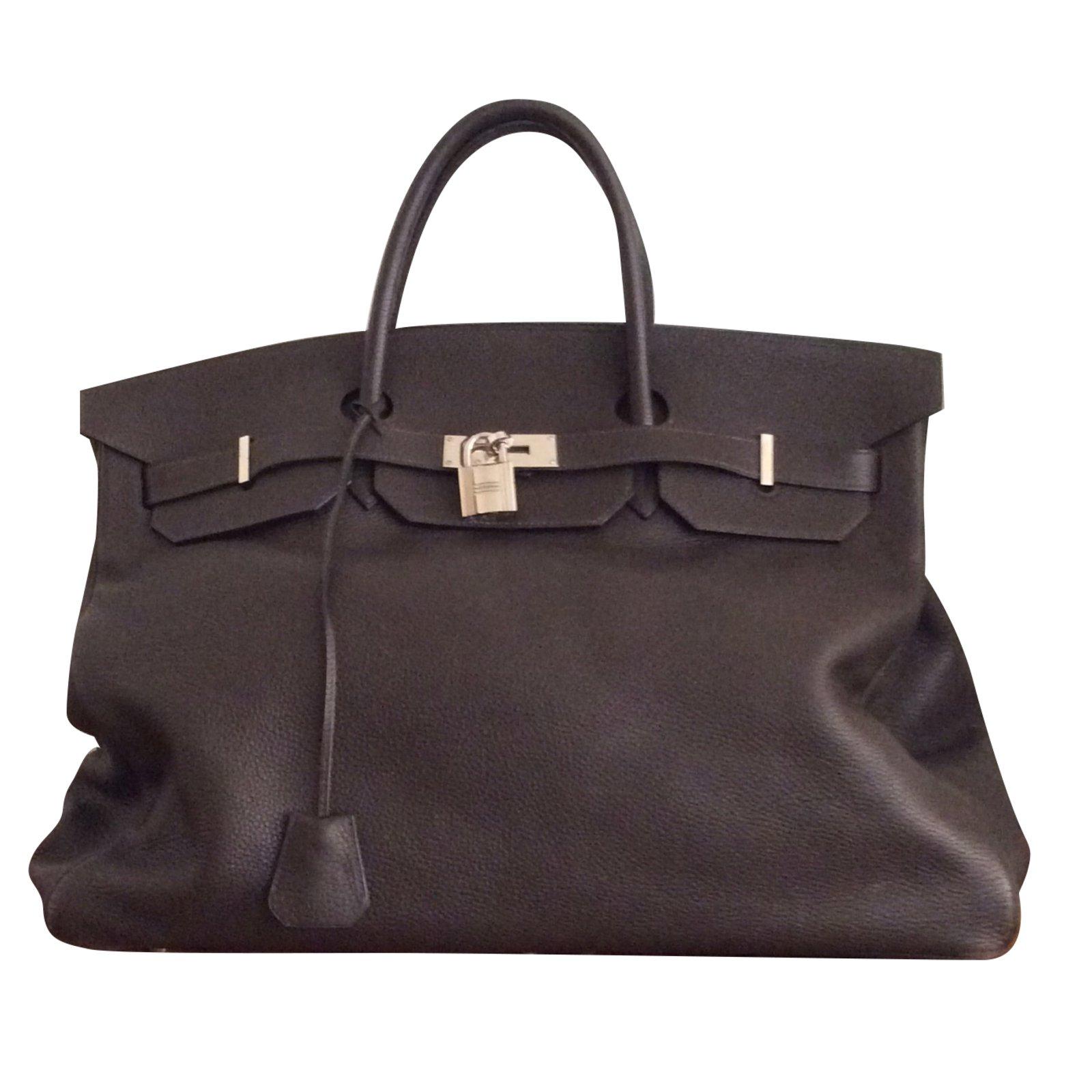 997f59fe78c Hermès Birkin bag 48 hours(Week-end) Travel bag Leather Dark brown ...