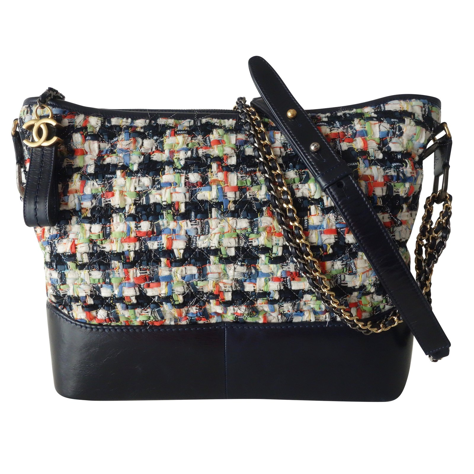 e648945b34 Chanel GABRIELLE Handbags Leather,Tweed Blue,Multiple colors ref.89689