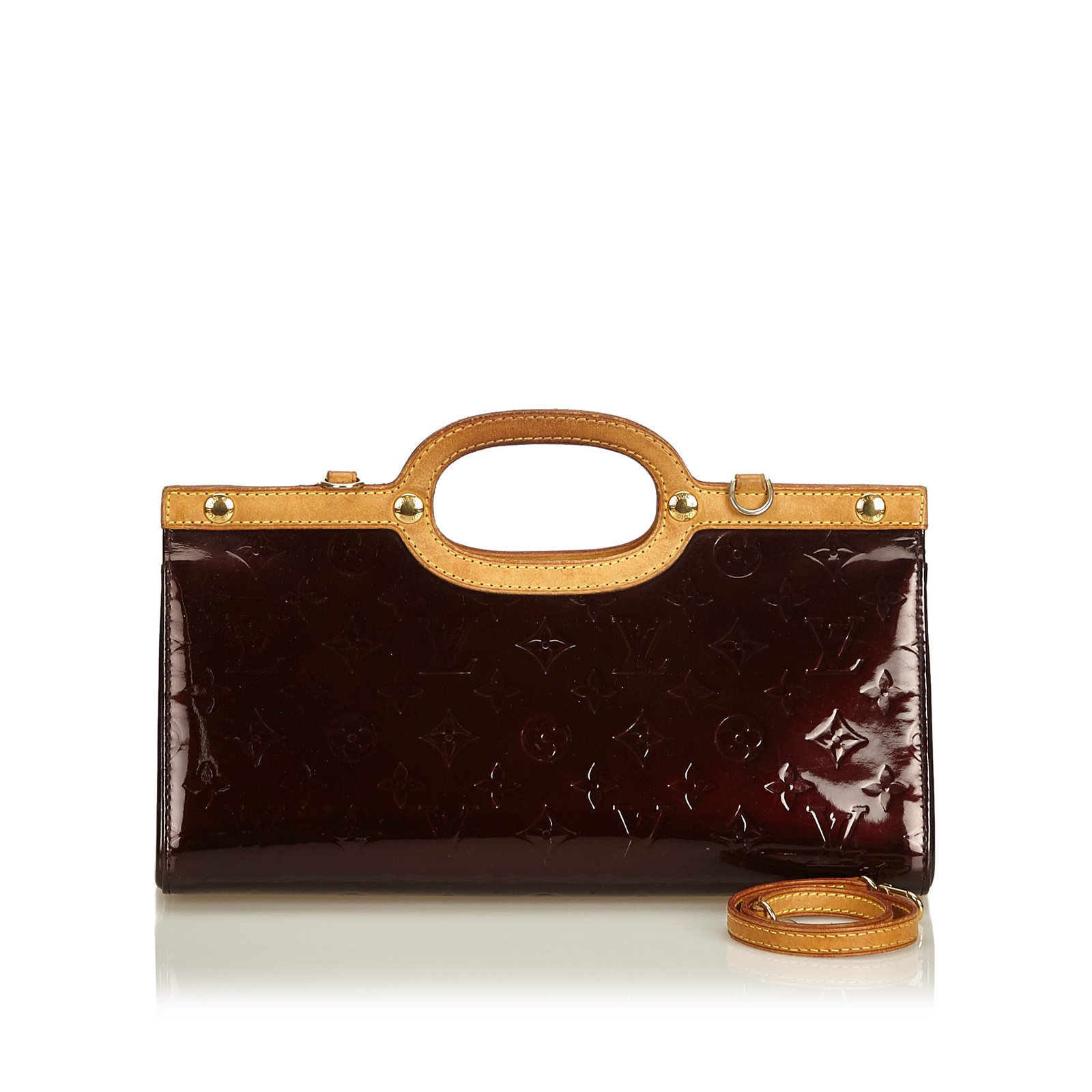 Louis Vuitton Vernis Roxbury Drive Handbags Leather Patent Purple Ref 89758