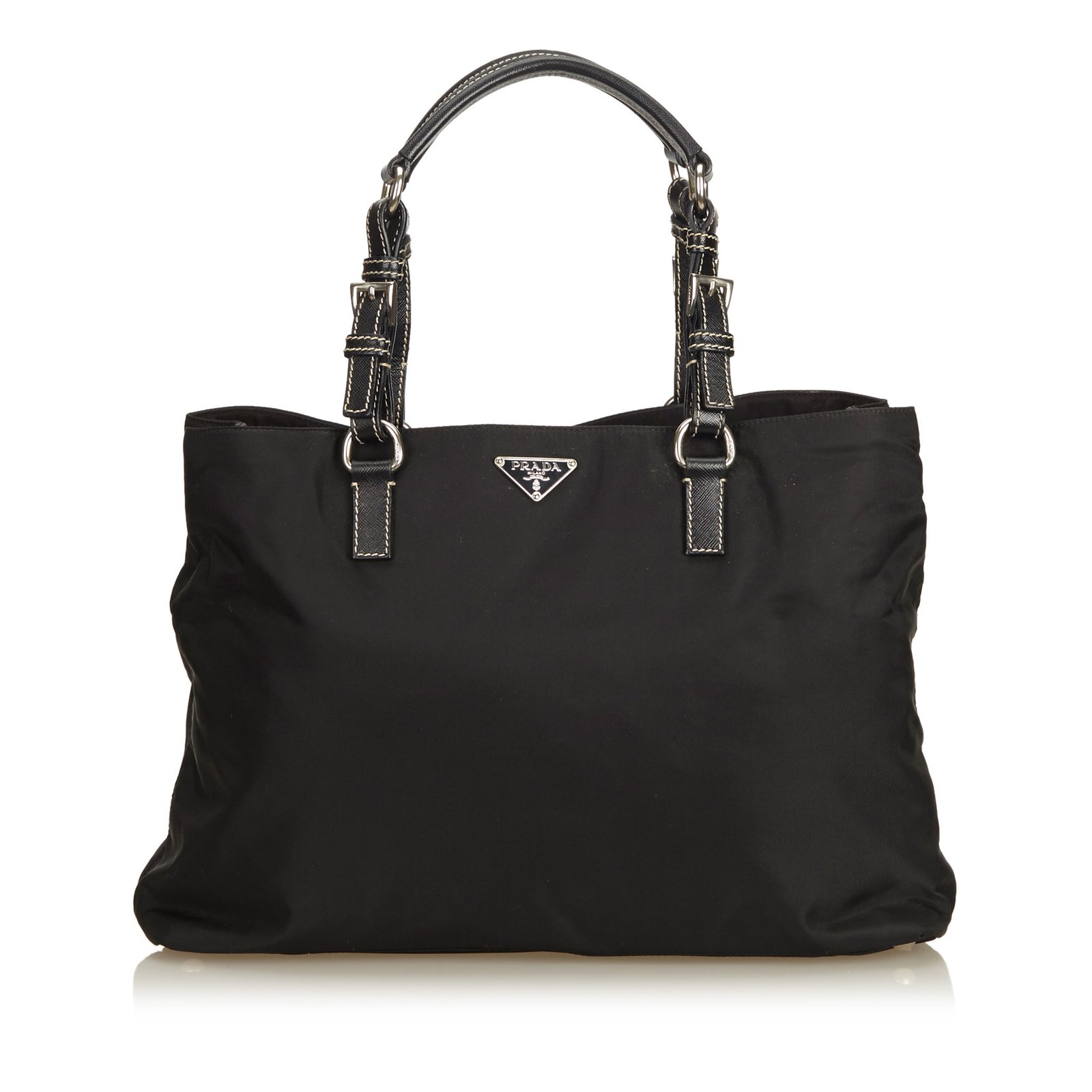 ac45e2f5f27f Prada Nylon Tote Bag Handbags Leather,Other,Nylon,Cloth Black ref.89761
