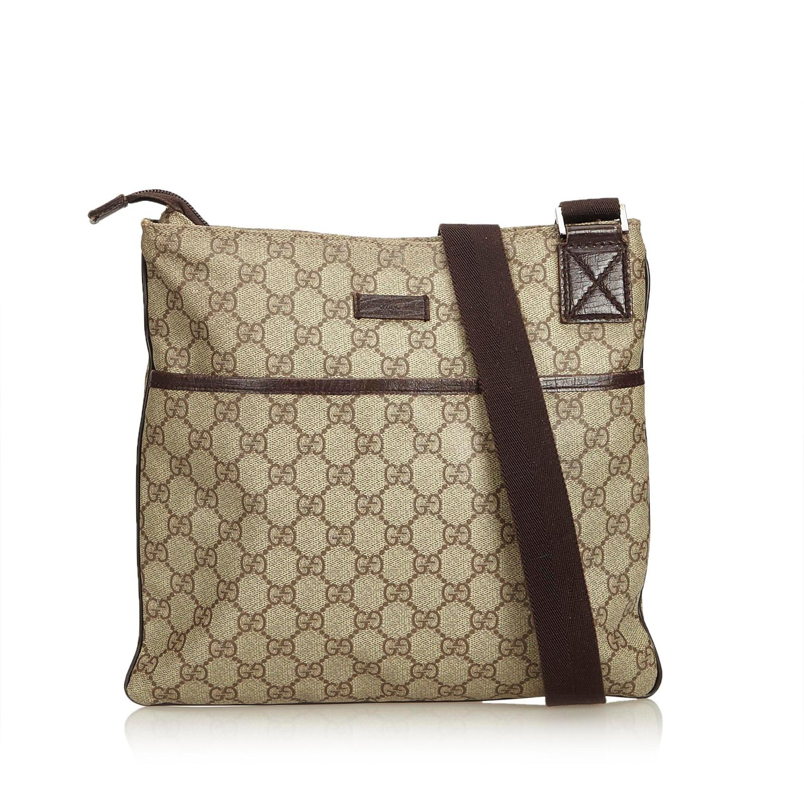 665fc5b82920 Gucci Guccissima Crossbody Bag Handbags Leather,Other,Plastic Brown,Beige  ref.90223