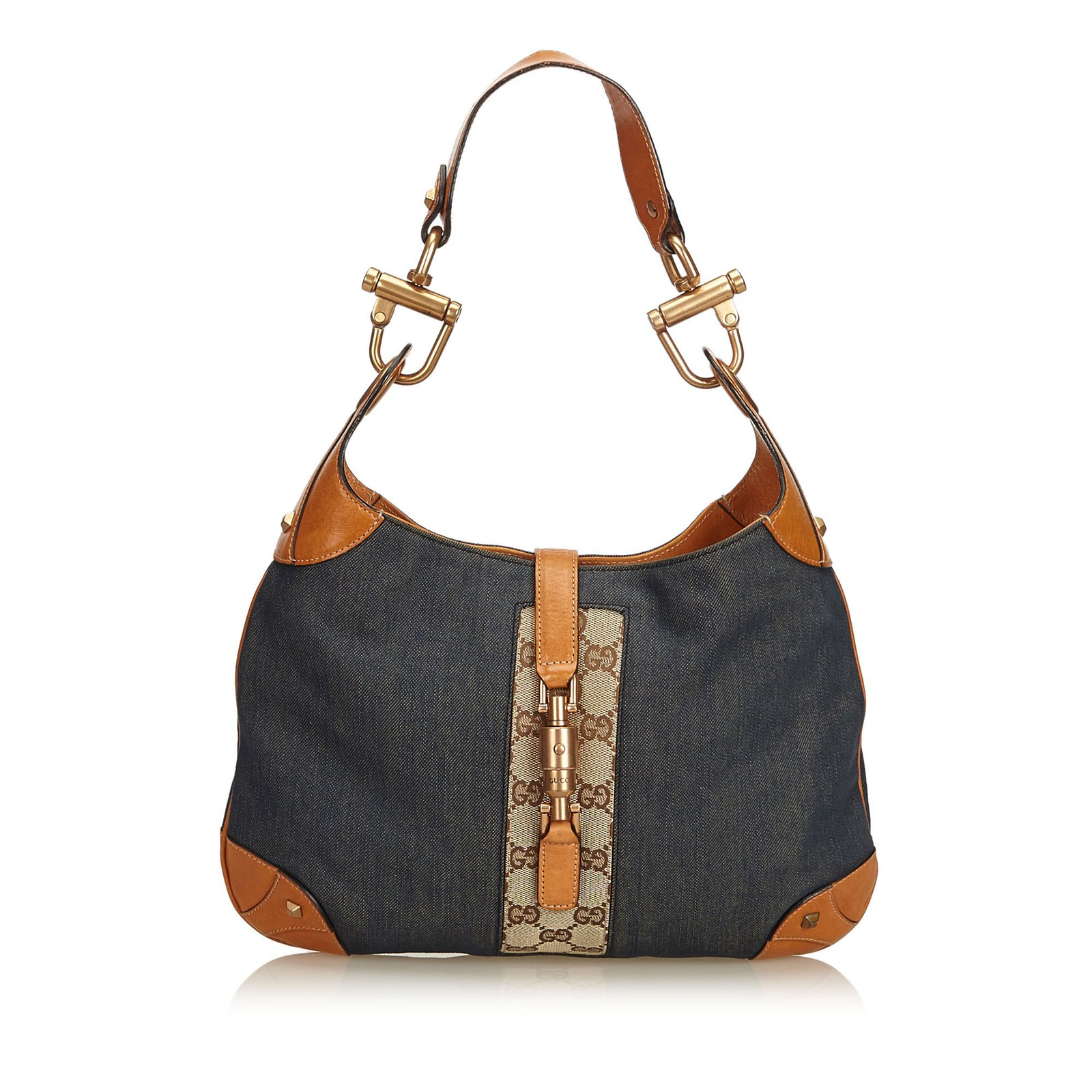 f31ccfb2df63c Gucci Nailhead New Jackie Shoulder Bag Handbags Leather