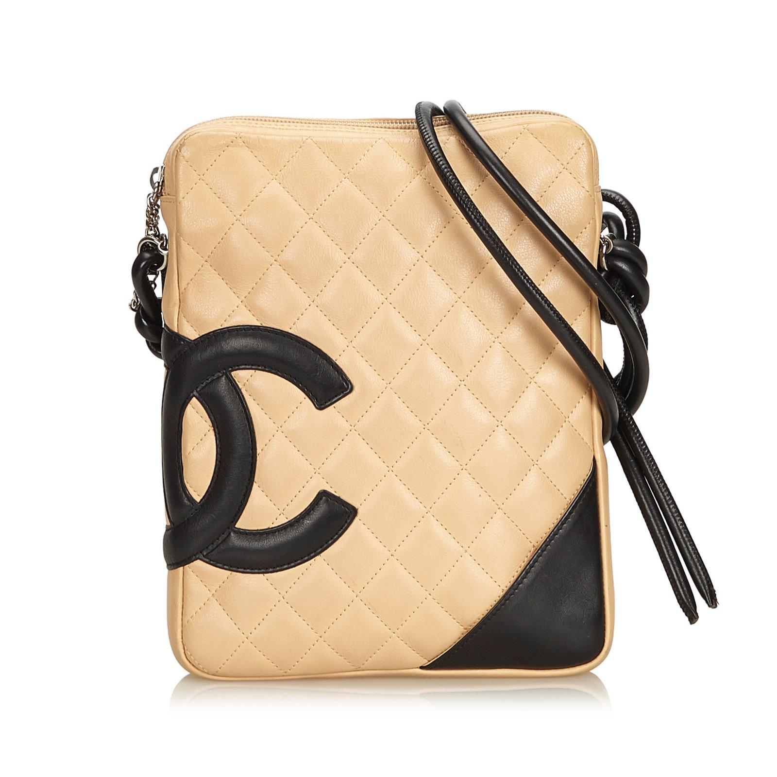 0454ddba350a Sacs à main Chanel Cambon Ligne Crossbody Bag Cuir Marron,Noir,Beige ref.