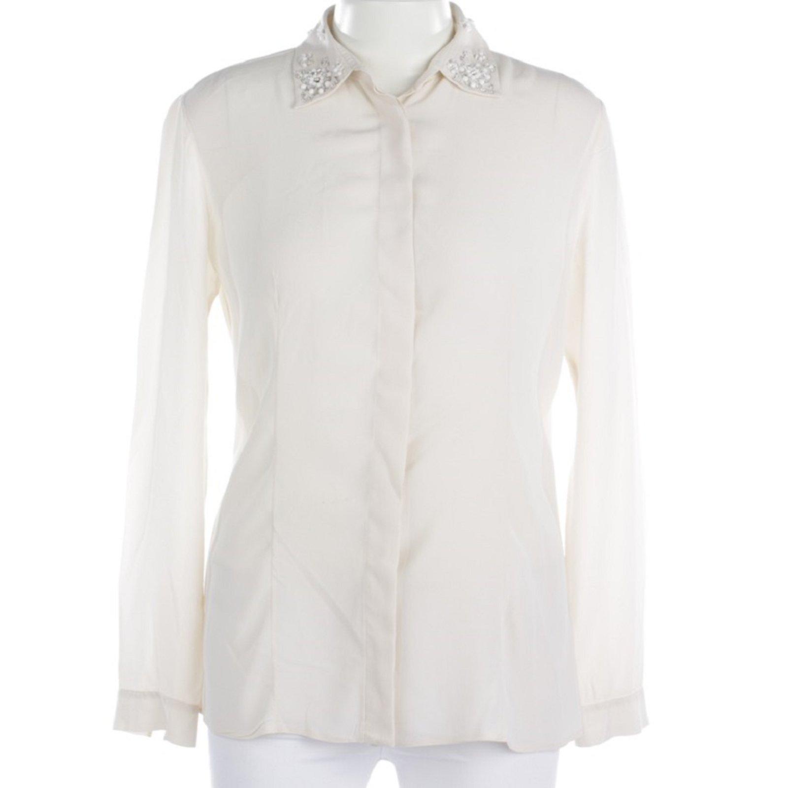 c8e4df96d50c53 Prada Tops Tops Silk Cream ref.90631 - Joli Closet