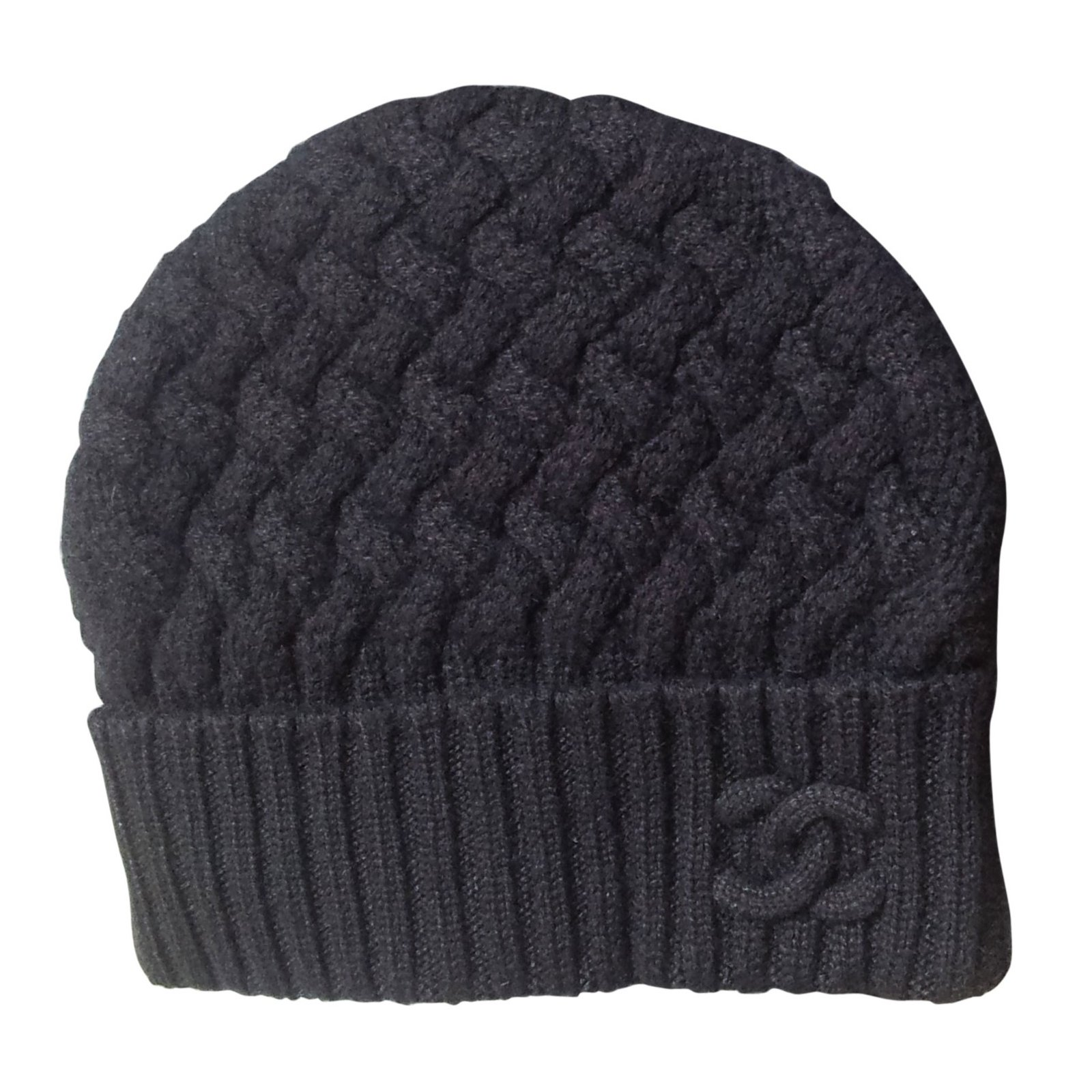 6e7675f9240 Chanel Cashmere beanie Hats Cashmere Black ref.90705 - Joli Closet