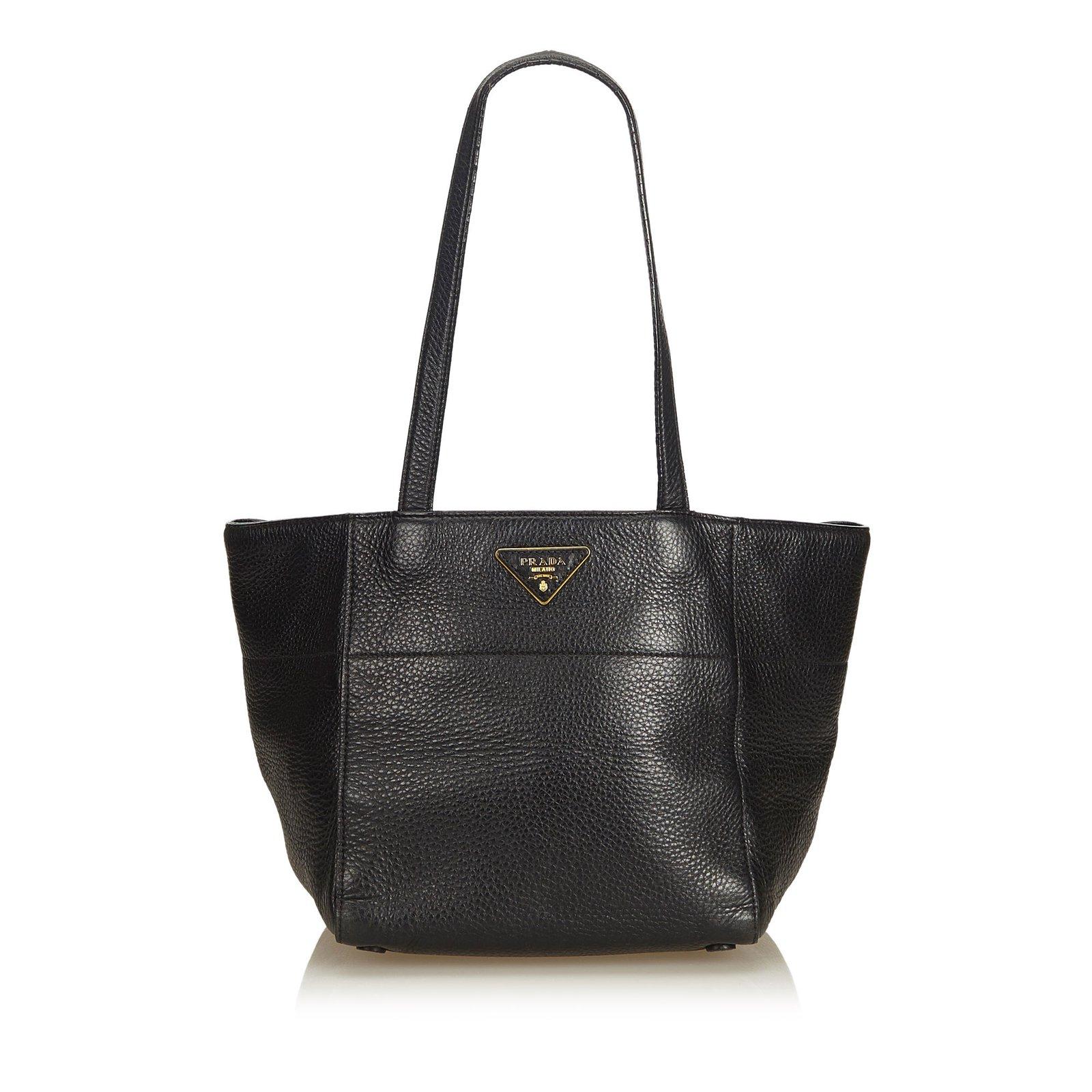 2d67891e4bcc Prada Leather Tote Bag Totes Leather