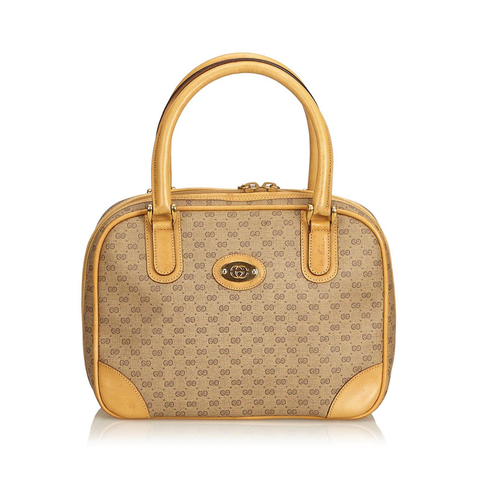 4048b0cecf8 Gucci Old Canvas Handbag Handbags Leather Other Cloth