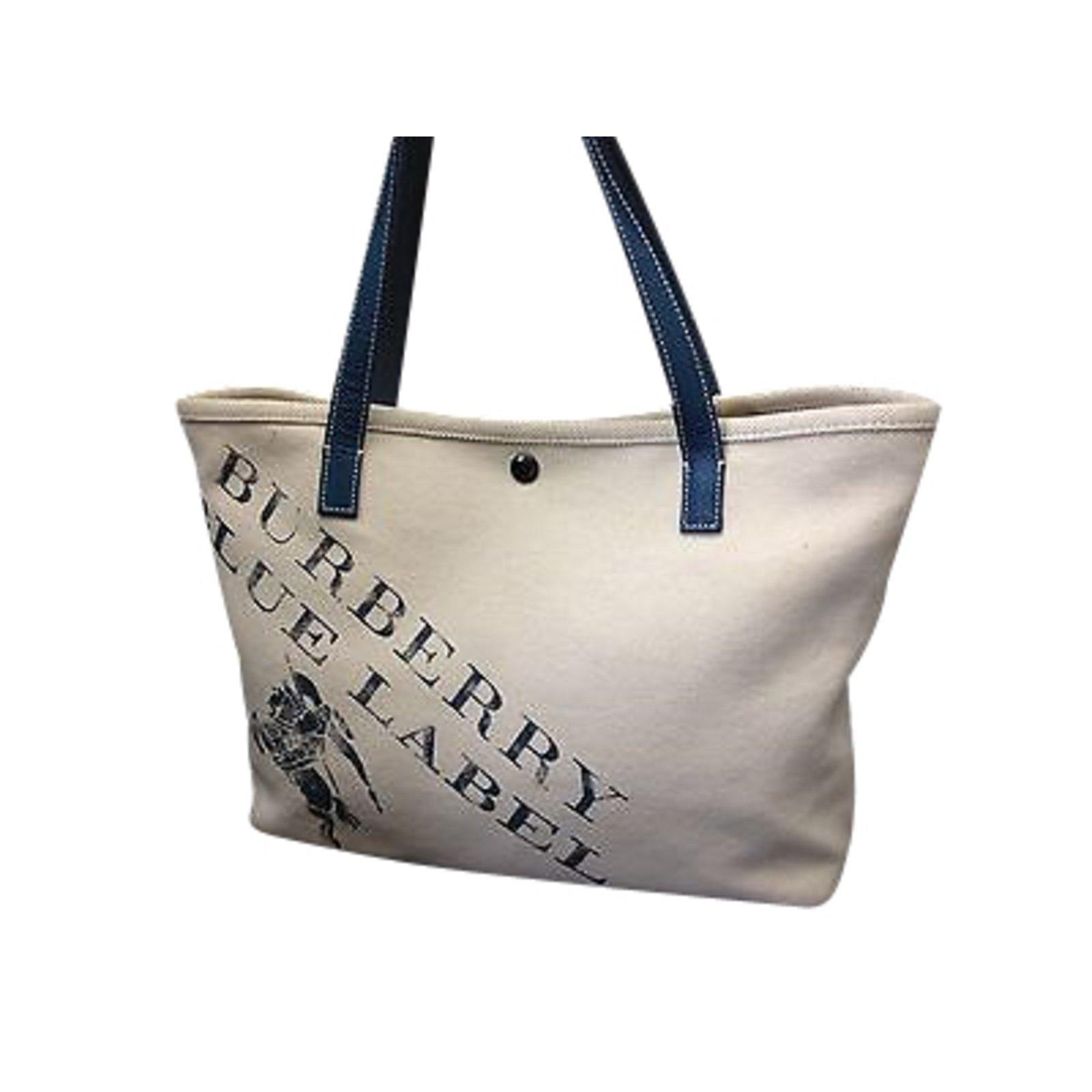 7b1abe24246c Burberry Blue Label Shoulder Bag Handbags Cotton Beige ref.91148 ...