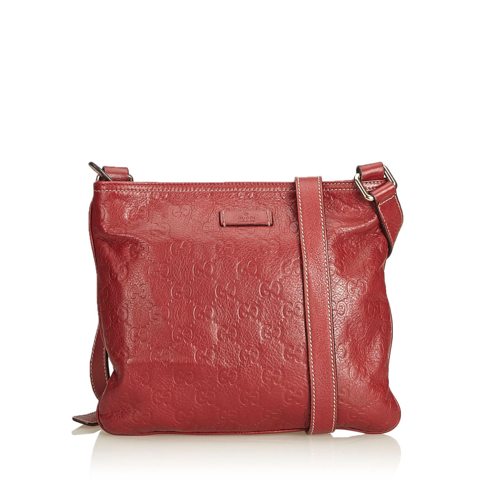 f0a3cf57ecc6 Gucci Guccissima Leather Crossbody Handbags Leather,Other Red ref.91318