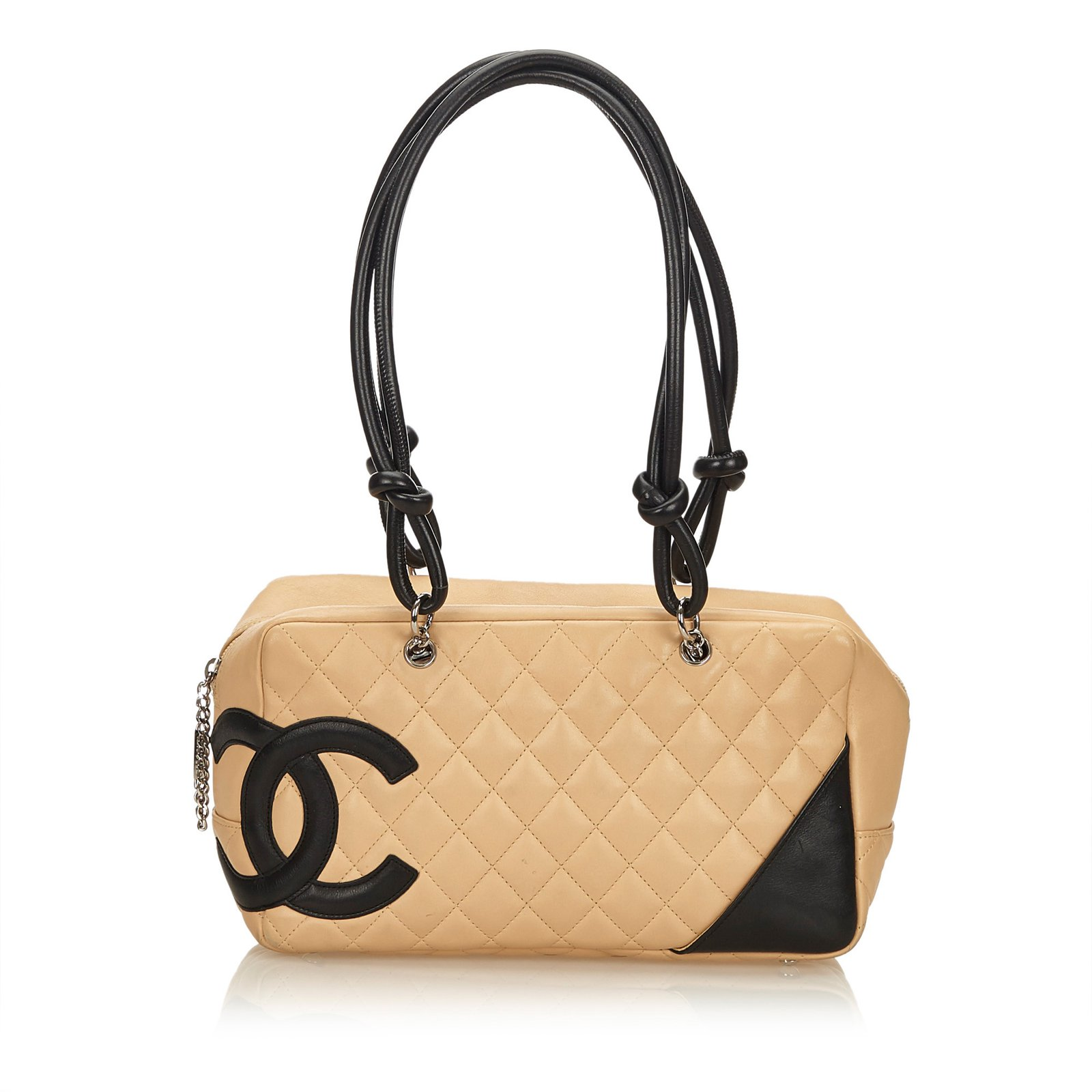 4ea5d2a14d3e Chanel Cambon Shoulder Bag Line Handbags Leather Brown,Black,Beige ref.91329
