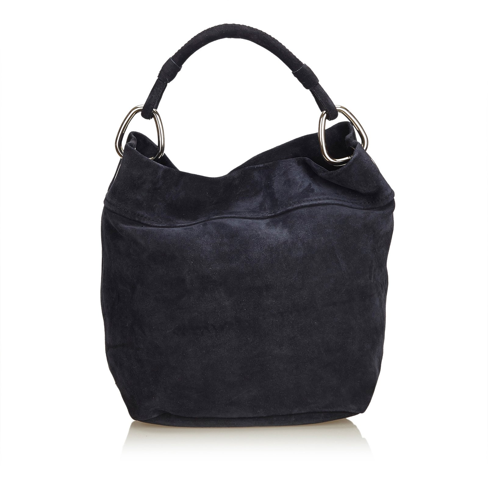 92ec74fb66a2 Prada Nubuck Hobo Handbags Leather,Other Blue,Navy blue ref.91331 ...