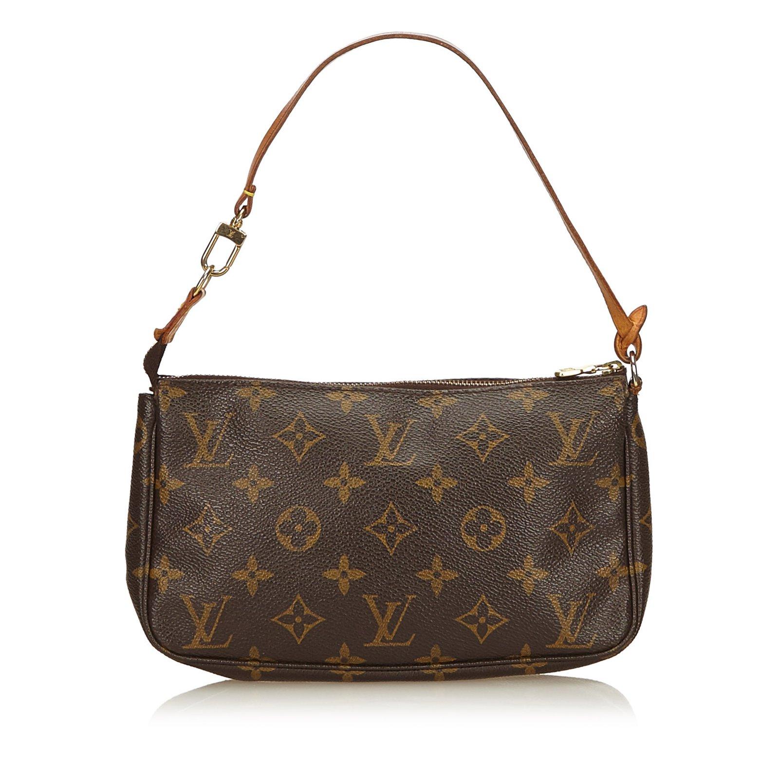 caf7168196 Sacs à main Louis Vuitton Monogram Pochette Accessoires Cuir,Toile Marron  ref.91546 ...