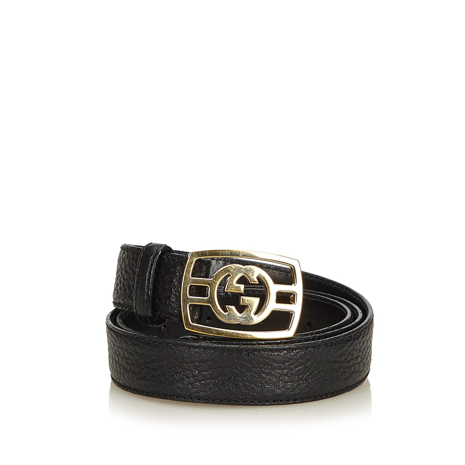 500fc664e Gucci Double-G Leather Belt Clutch bags Leather,Other,Metal Black,Golden