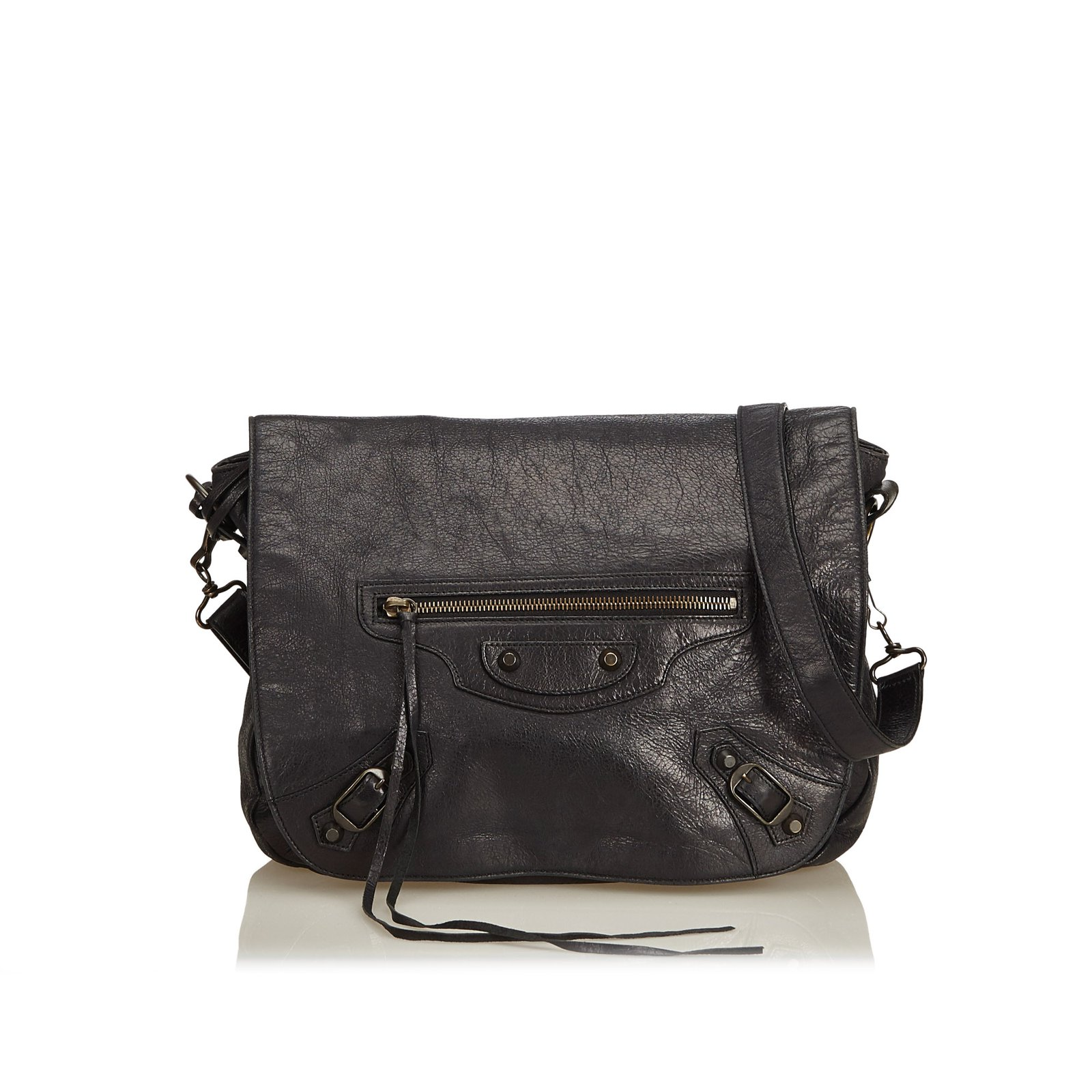 ee68f79193b3 Balenciaga Motocross Classic Folk Messenger Bag Handbags Leather ...
