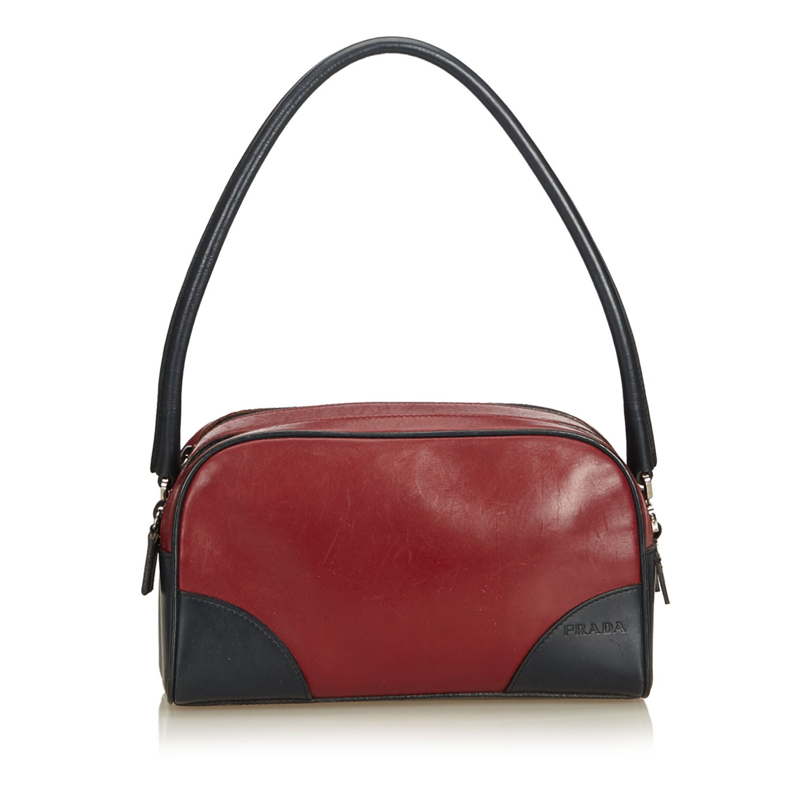 9b668aae5502 usa prada saffiano cuir double bagstrap black red tote 5544a 38876  coupon  code for prada leather shoulder bag handbags leatherother blackred  ref.91788 ...