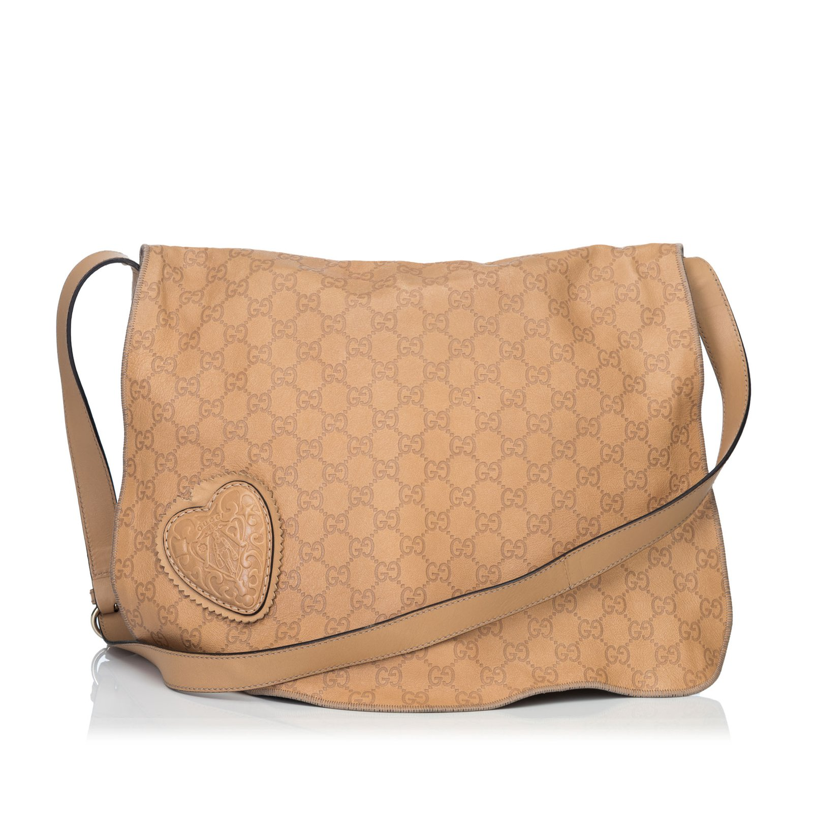 5c1e590663c4 Gucci Guccissima Leather Tribeca Messenger Bag Handbags Leather,Other  Brown,Beige ref.92007