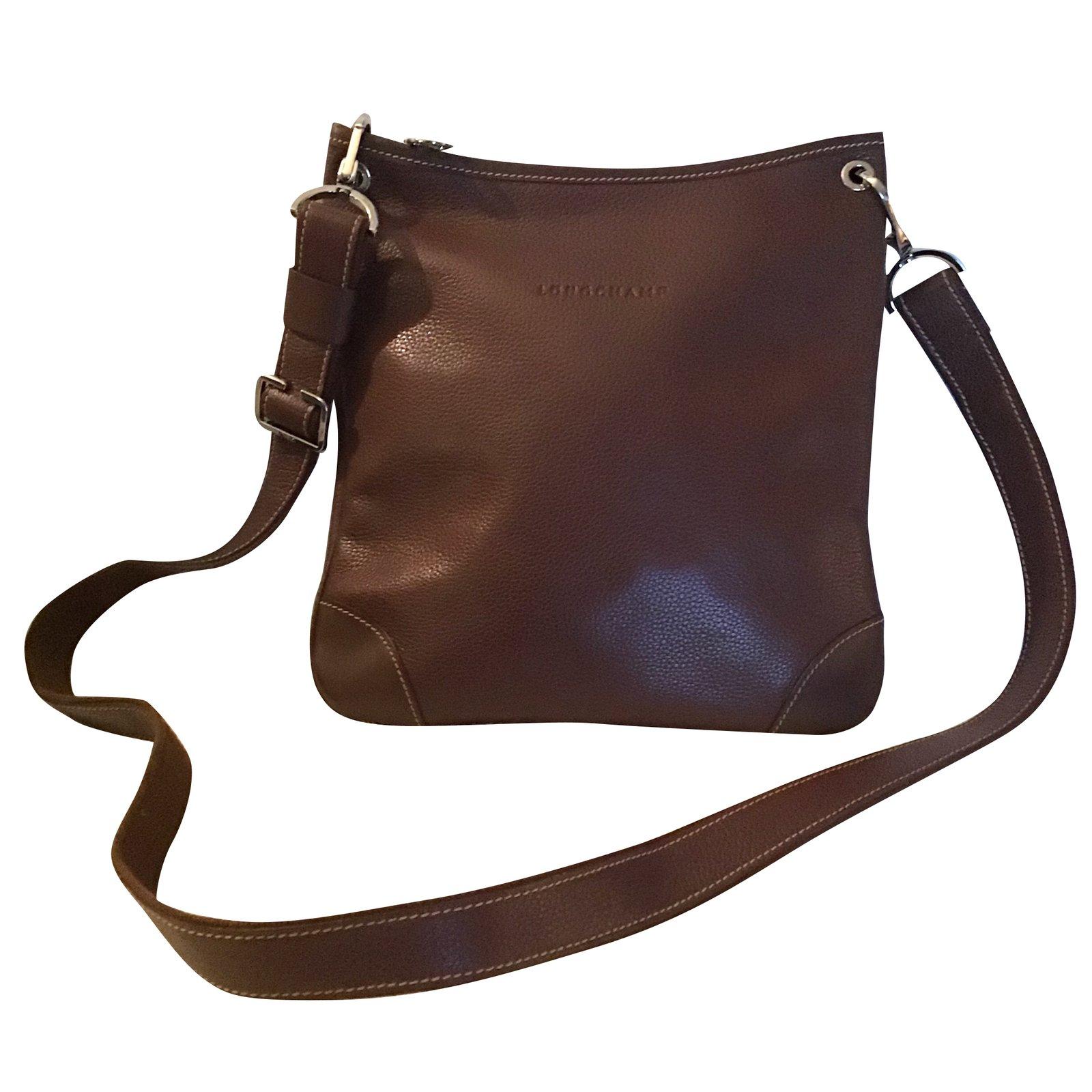 188b5f3dea48 Longchamp Handbags Handbags Leather Dark brown ref.92082 - Joli Closet