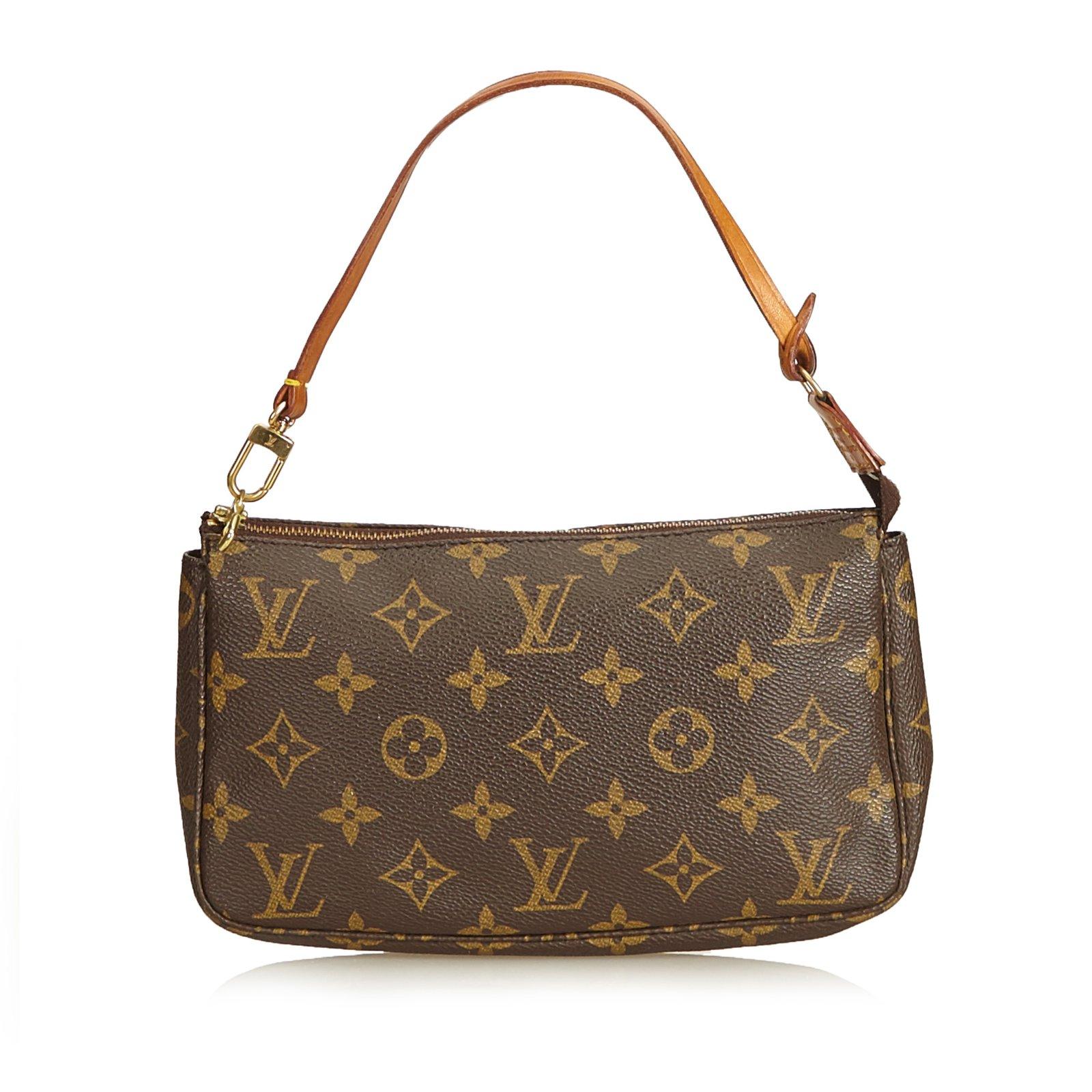 56bc21063d Sacs à main Louis Vuitton Monogram Pochette Accessoires Cuir,Toile Marron  ref.92139 ...