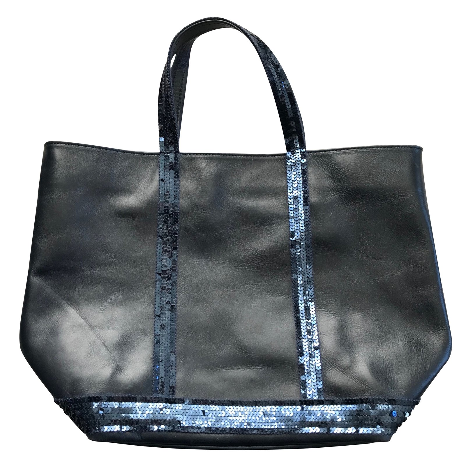 535015ee05ac1 Vanessa bruno glitter leather tote handbags leather navy blue ref jpg  1600x1600 Vanessa handbags