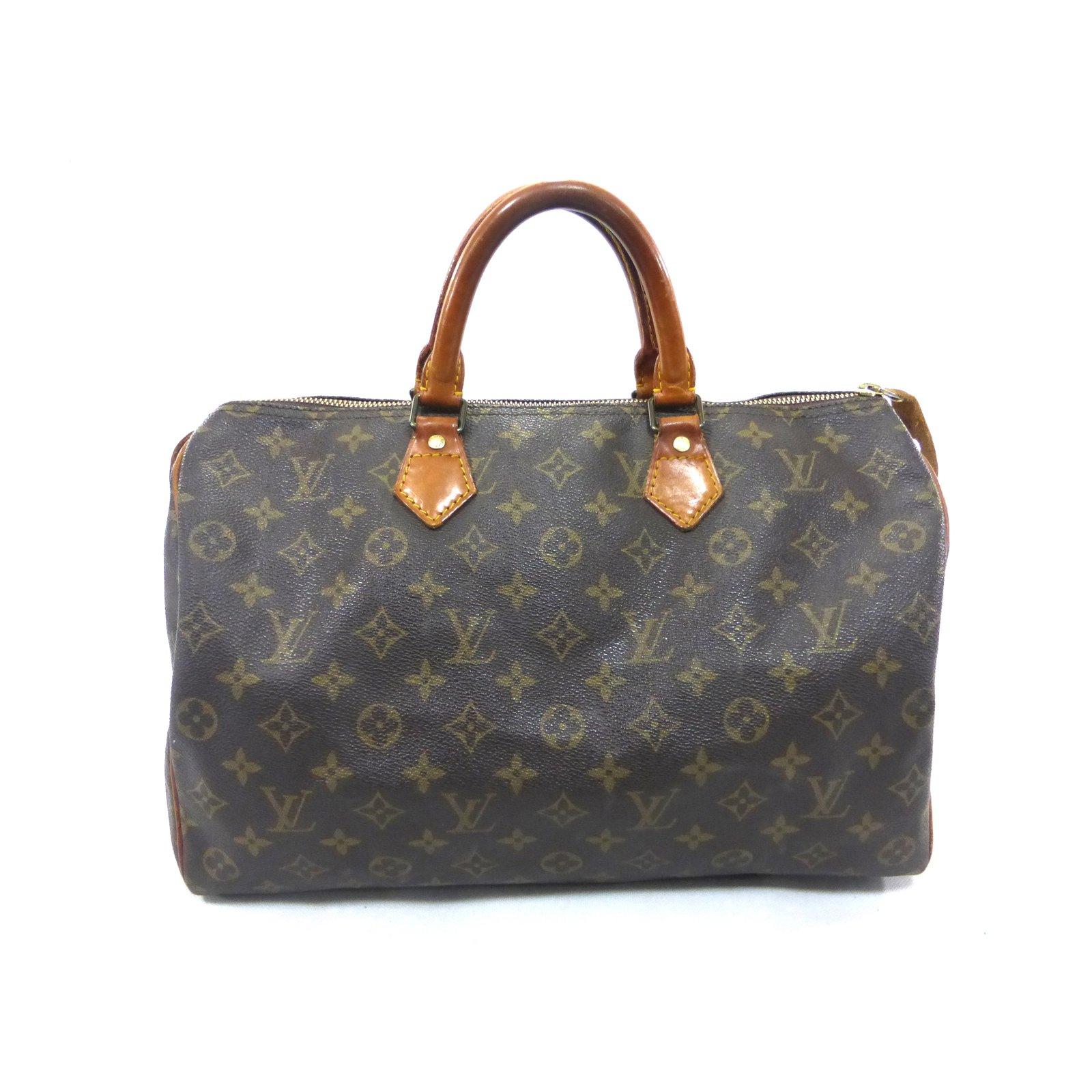 e6ef54f2f99e Louis Vuitton SPEEDY 35 MONOGRAM Handbags Leather Brown ref.92363 ...