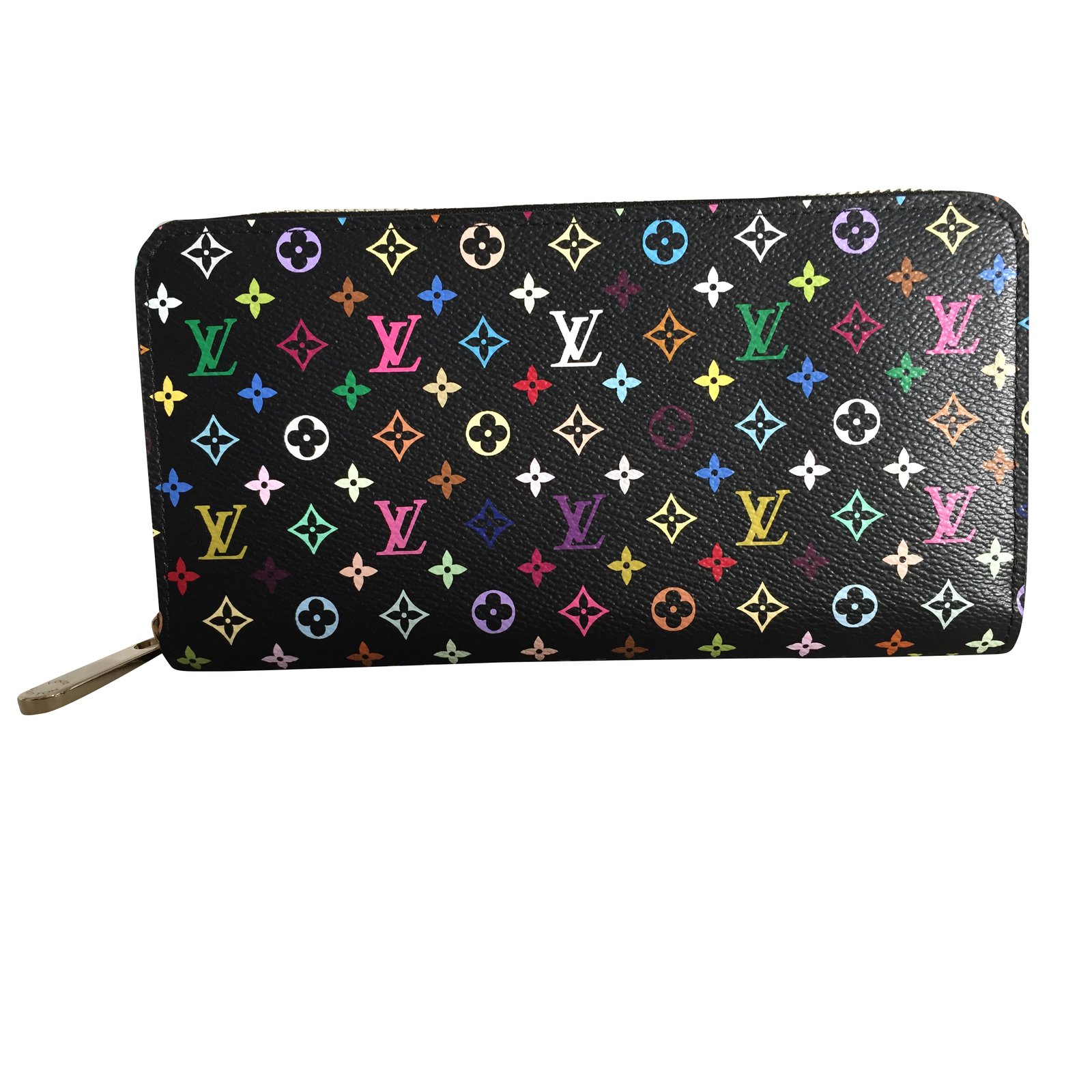 3ba84f4a3ff9 Portefeuilles Louis Vuitton Portefeuille Zippy multicolore Cuir Noir  ref.92649