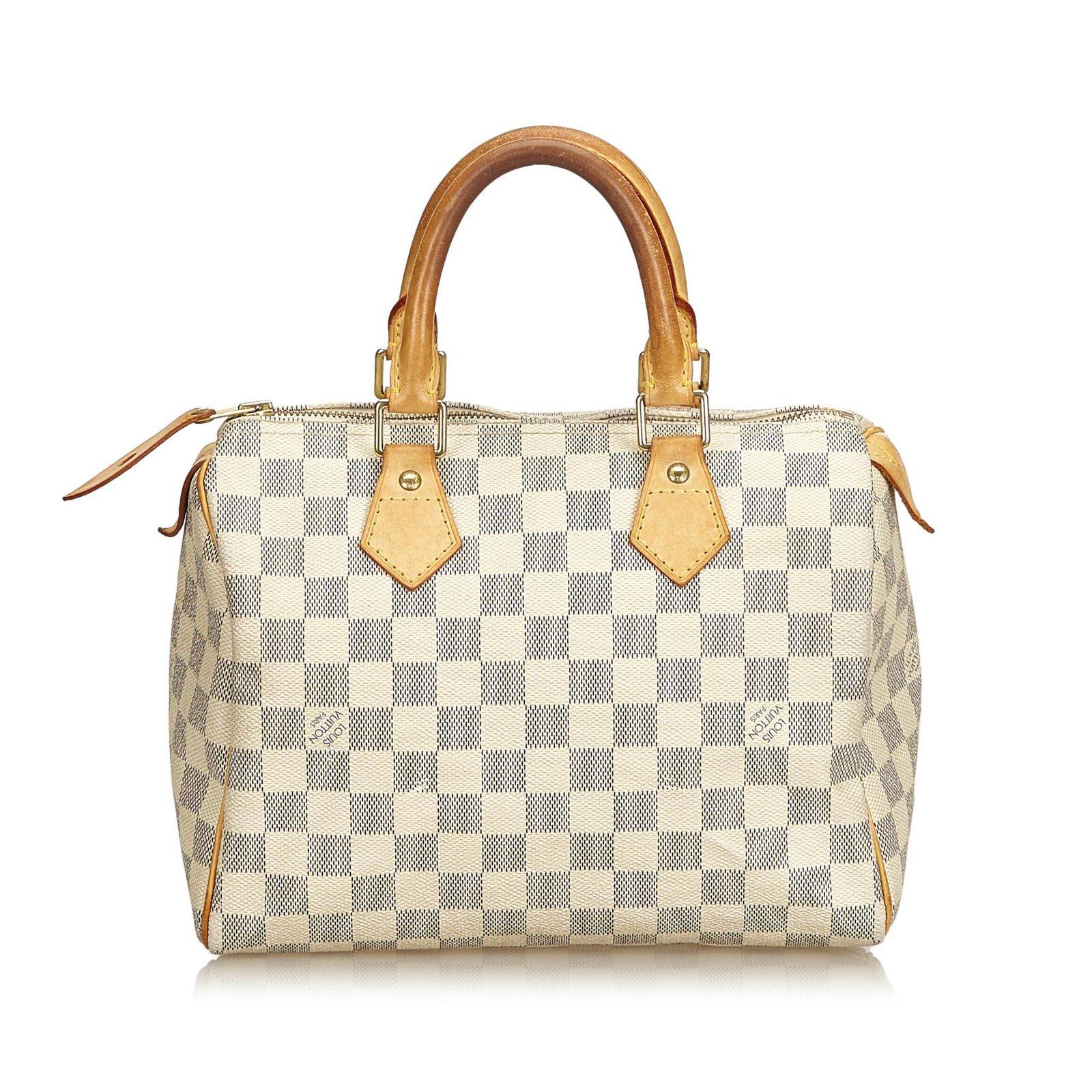 3669ef0dc9a Louis Vuitton Damier Azur Speedy 25 Handbags Leather