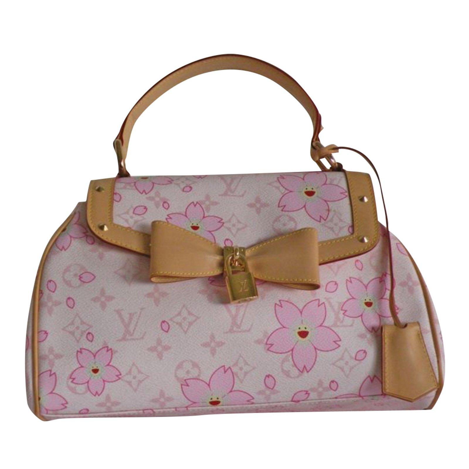 Louis vuitton retro cherry blossom takashi murakami handbags leather cloth  pink ref jpg 1600x1600 Cherry blossom 2f1348b8c9368