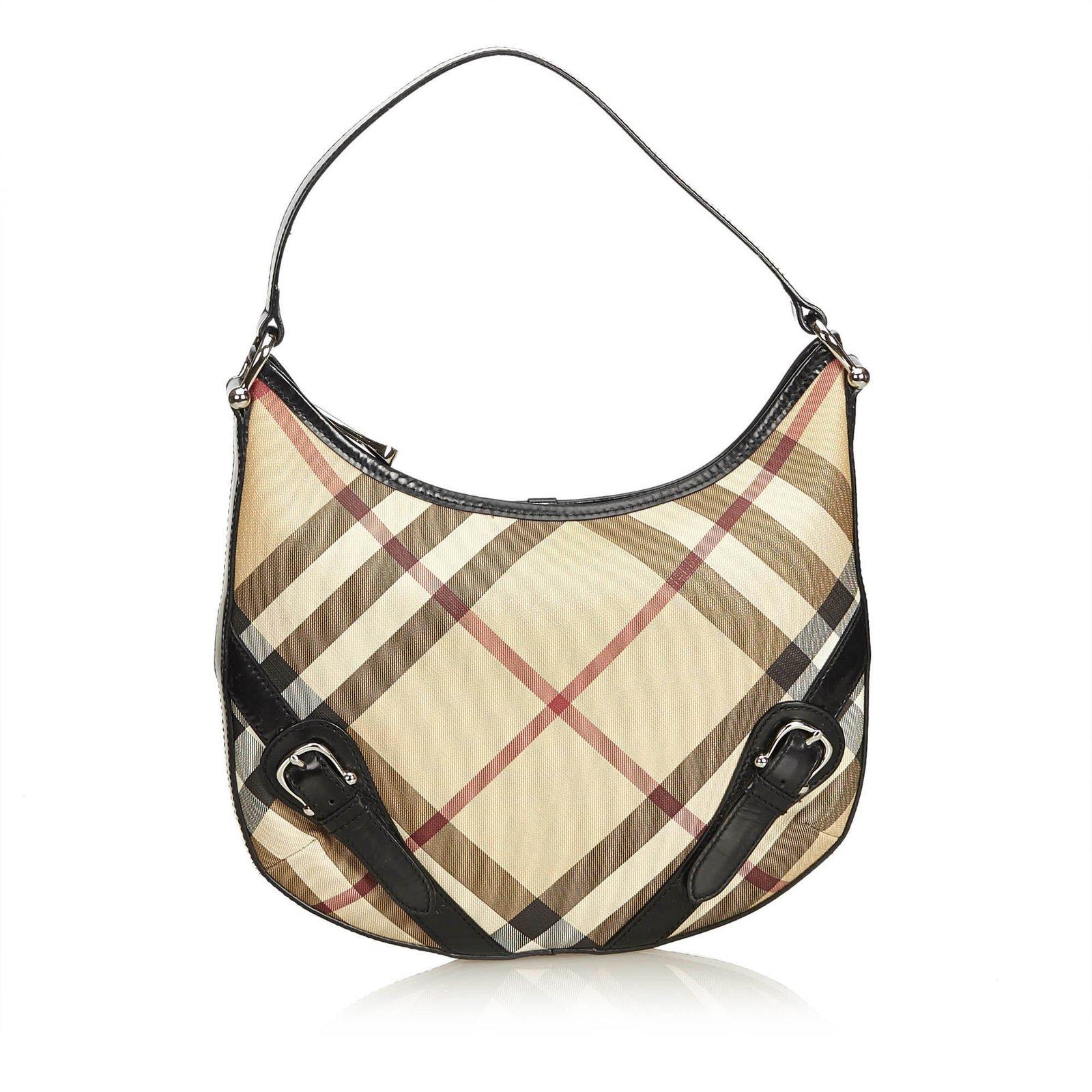 18f4f60f6a61 Burberry Nova Check Hobo Bag Handbags Leather