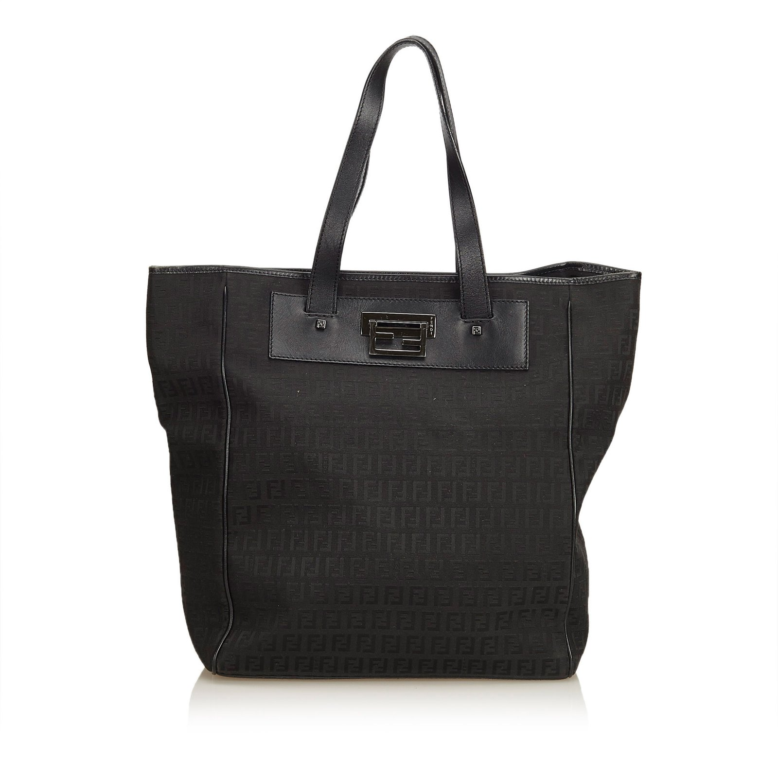 Fendi Zucchini Jacquard Tote Bag Totes Leather 7bc15a8afebc6