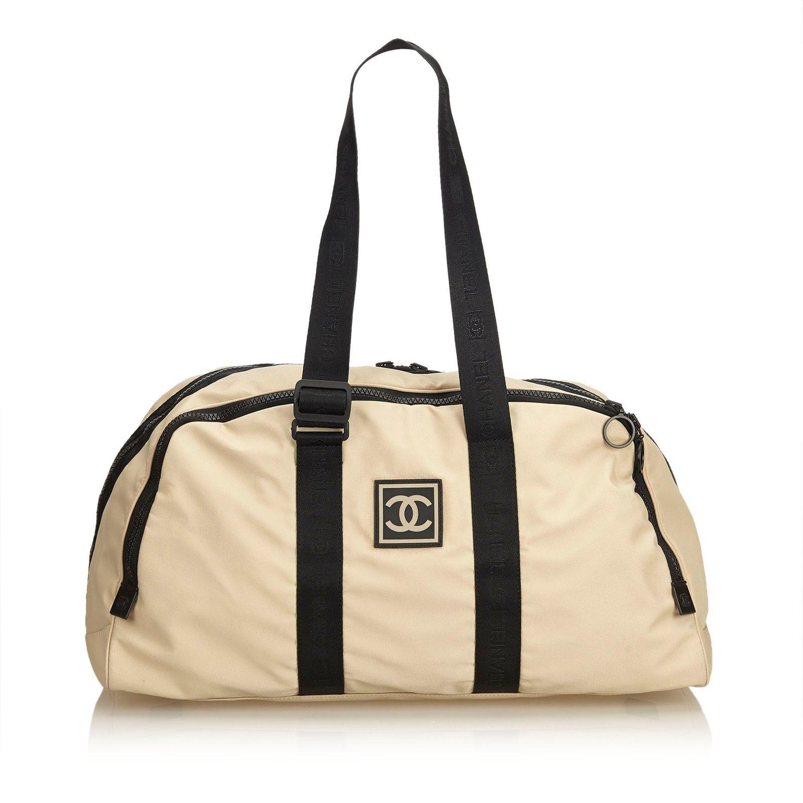 ff5559c8f5f4 Chanel CC Nylon Sport Line Duffle Bag Travel bag Nylon,Cloth Brown,Black,