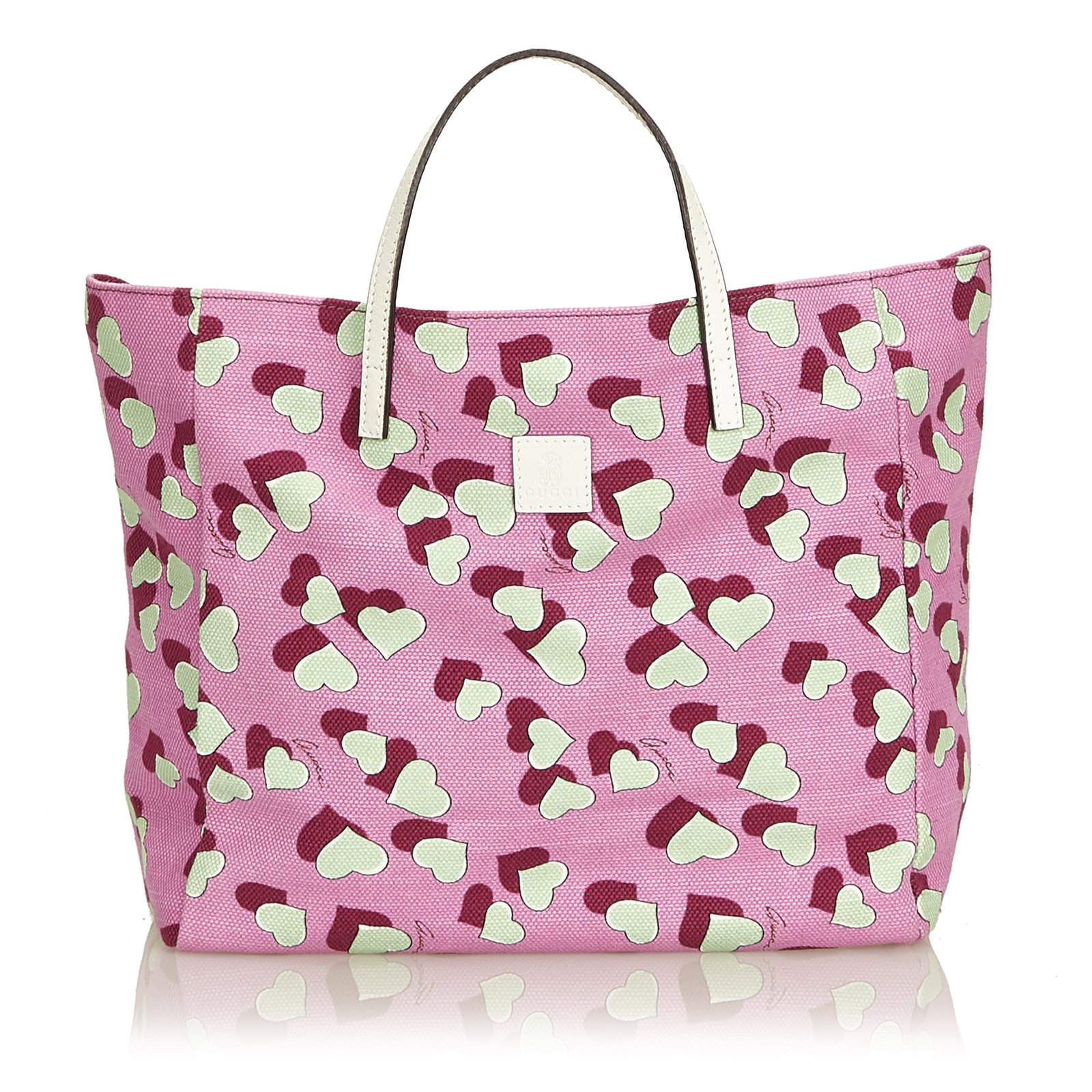a51b03950915 Gucci Printed Canvas Tote Bag Totes Leather,Other,Cloth,Cloth Pink,Multiple