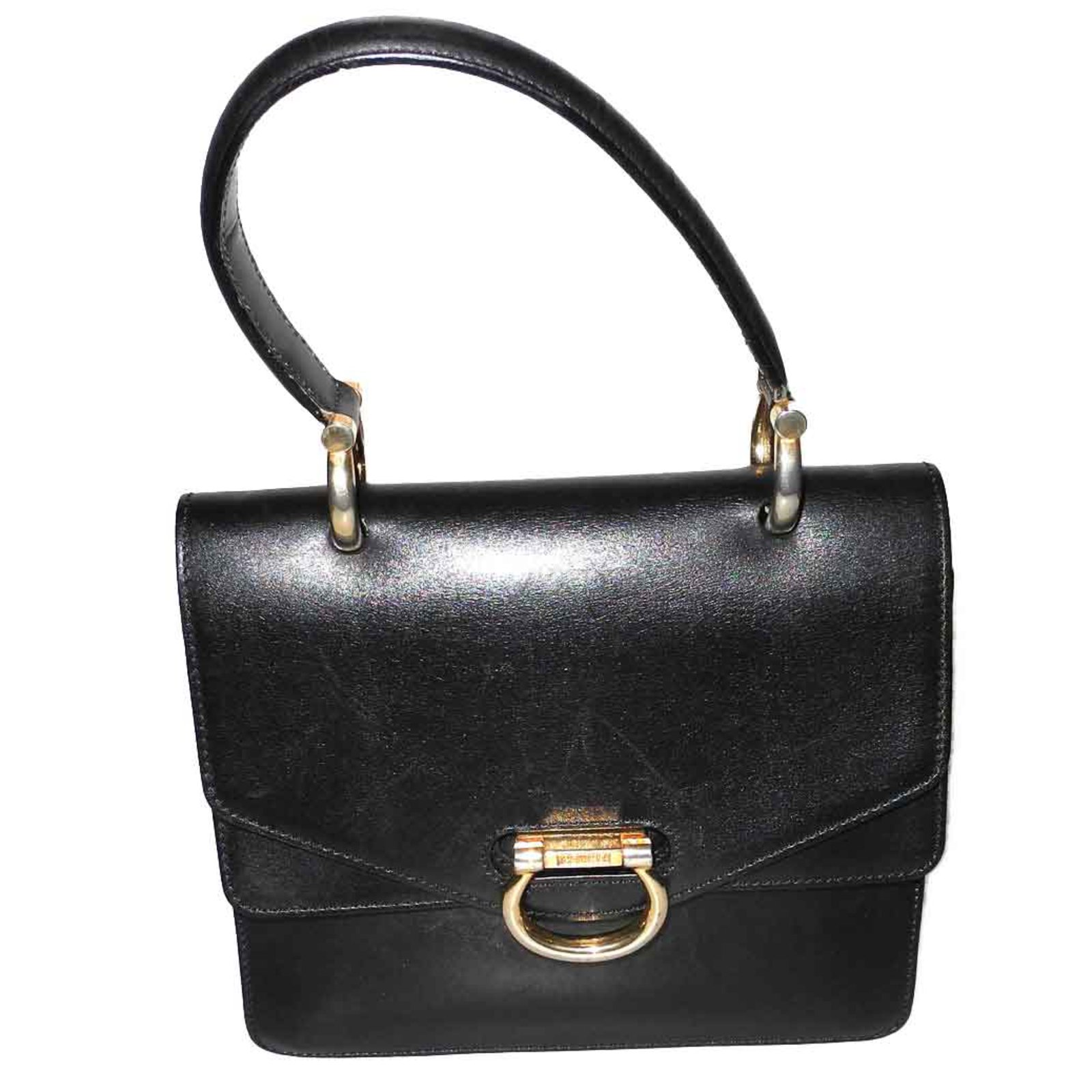 7ece51966498 Céline black vintage leather bag Handbags Leather Black ref.93235 ...
