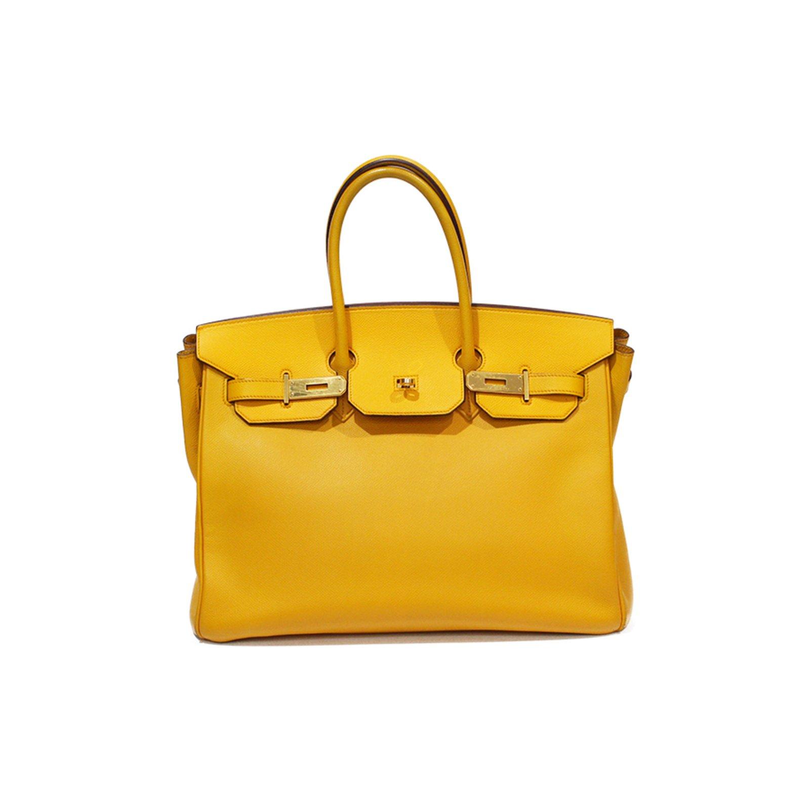 Sacs à main Hermès Birkin 35 Cuir Jaune ref.93395 - Joli Closet 66d114ed2f8