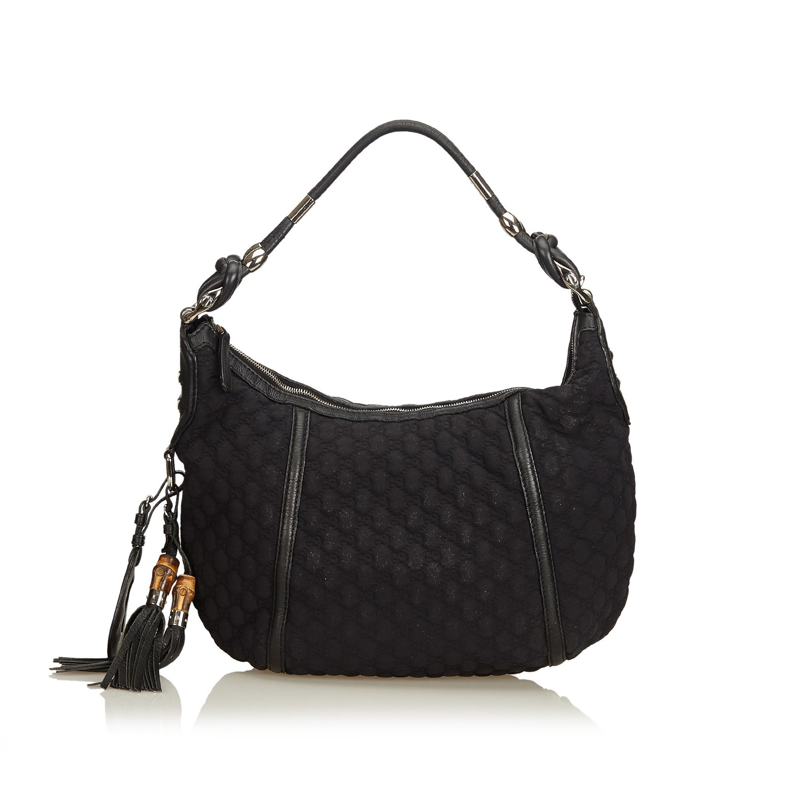 977041a079d0 Gucci Quilted Nylon Techno Hobo Bag Handbags Leather,Other,Nylon,Cloth Black  ref
