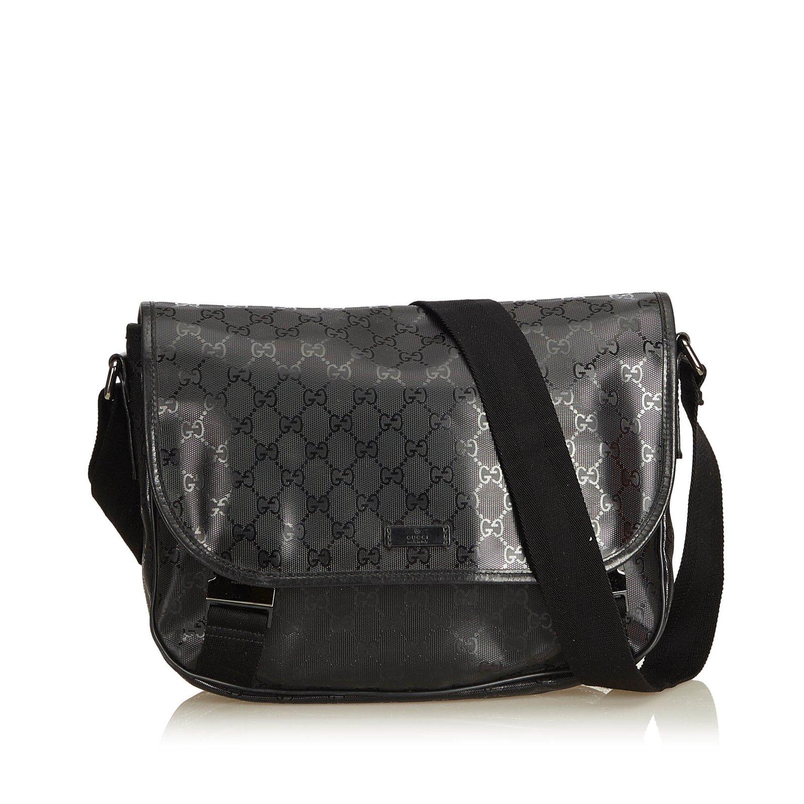 93d971049 Gucci Guccissima Imprime Messenger Bag Handbags Leather,Other,Plastic Black  ref.94744