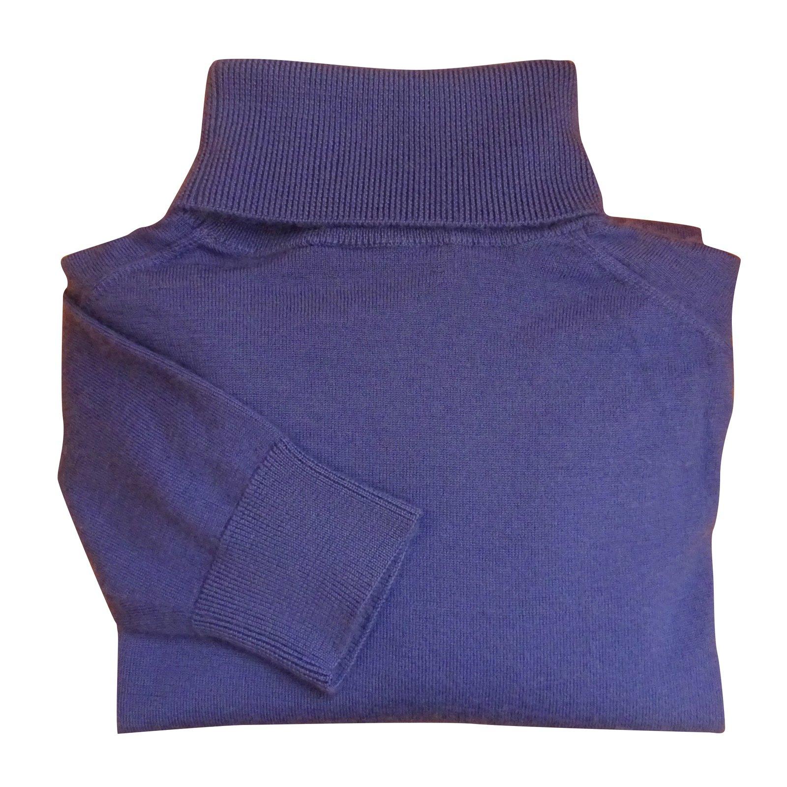 8bc46c1af Polo Ralph Lauren RALPH LAUREN PURPLE LABEL TURTLENECK SWEATER Sweaters  Cashmere Blue ref.98195