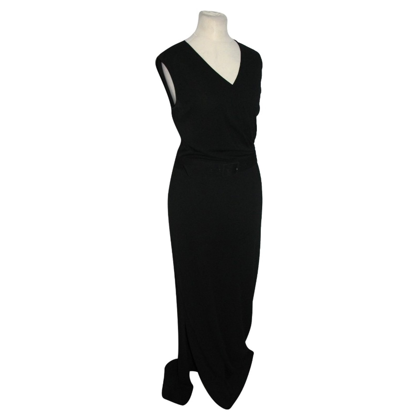 fec6f05c628 Max Mara Long black dress with belt Dresses Other Black ref.98495 ...