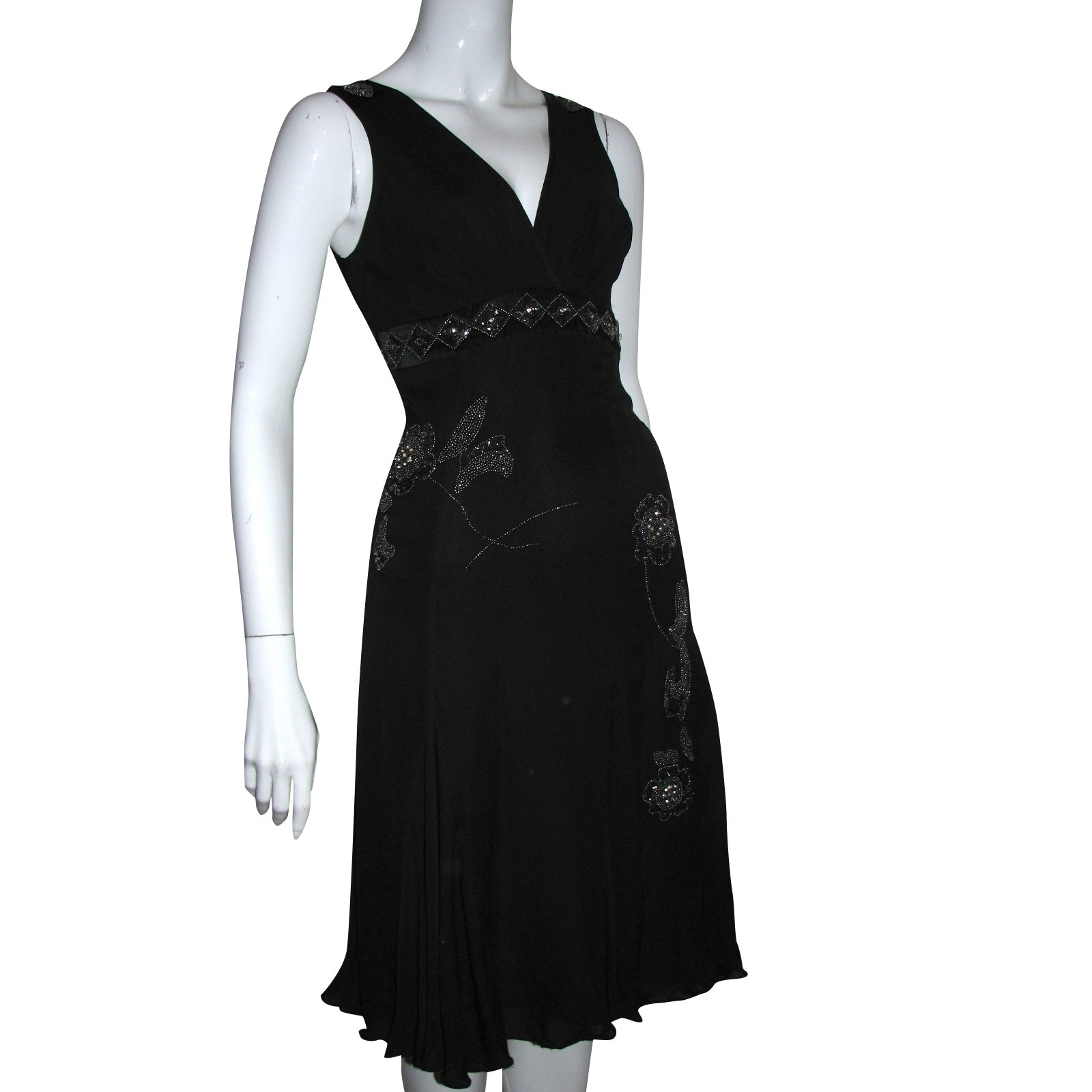 9ea347088a1 Ted Baker Silk dress with metal embroidery Dresses Silk Black ref.98529