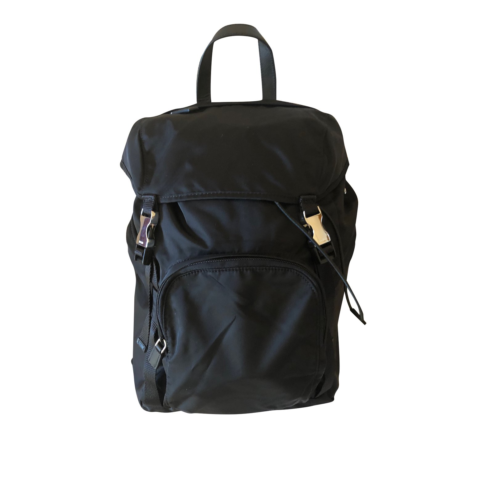0d5c77de47ac Prada Prada backpack Bags Briefcases Nylon Black ref.98768 - Joli Closet