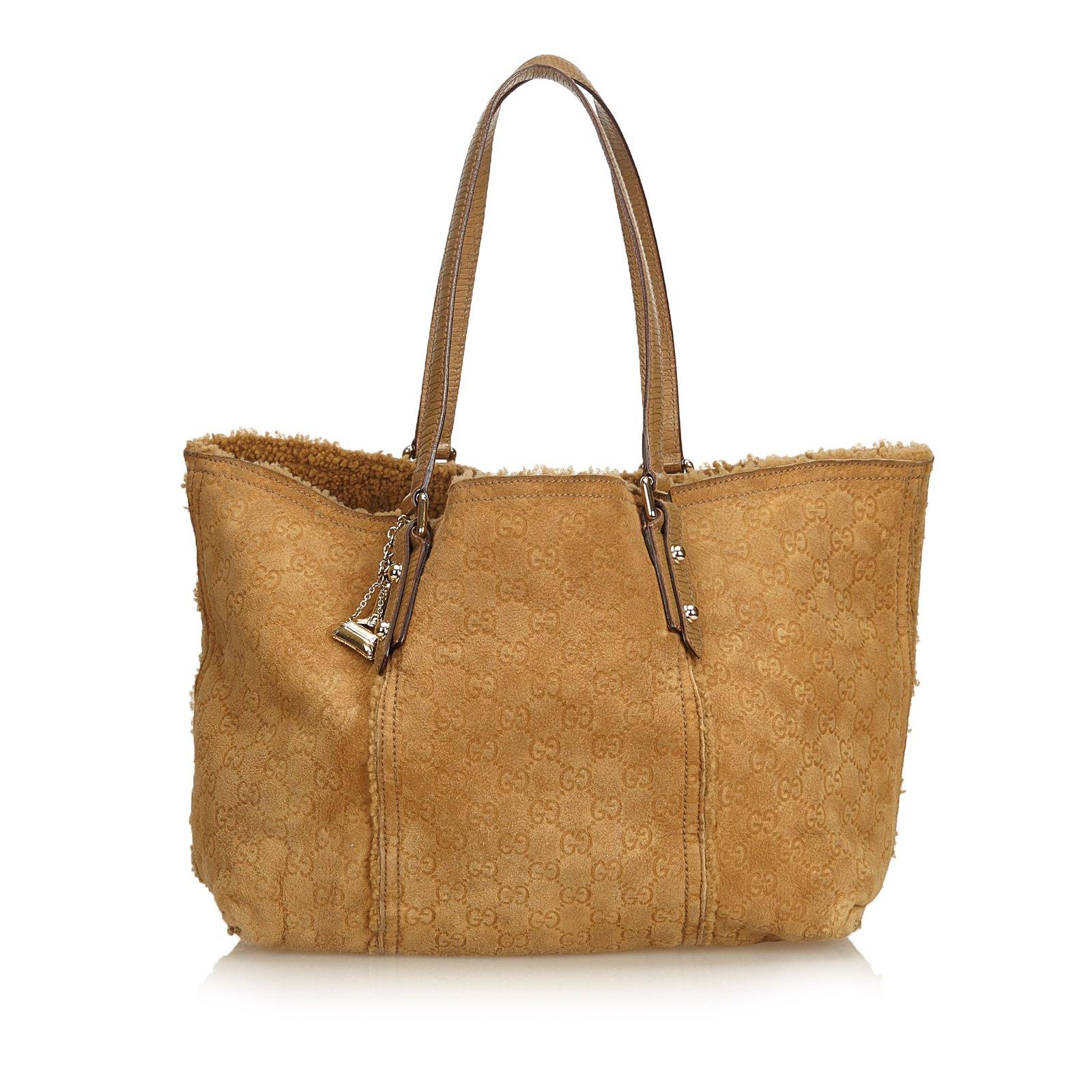 86799612493 Gucci Guccissima Shearling Jolicoeur Tote Totes Leather