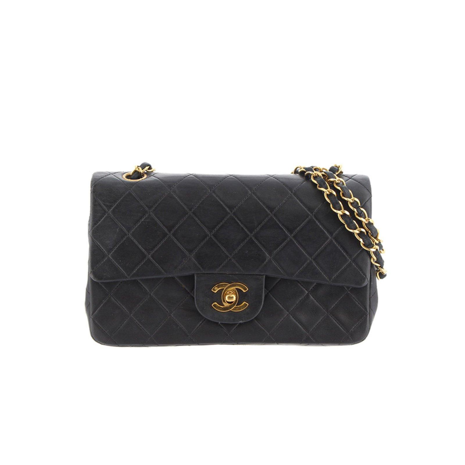 b03ec2386d36 Chanel Classic Small Double Flap Bag Handbags Leather Black ref.99188