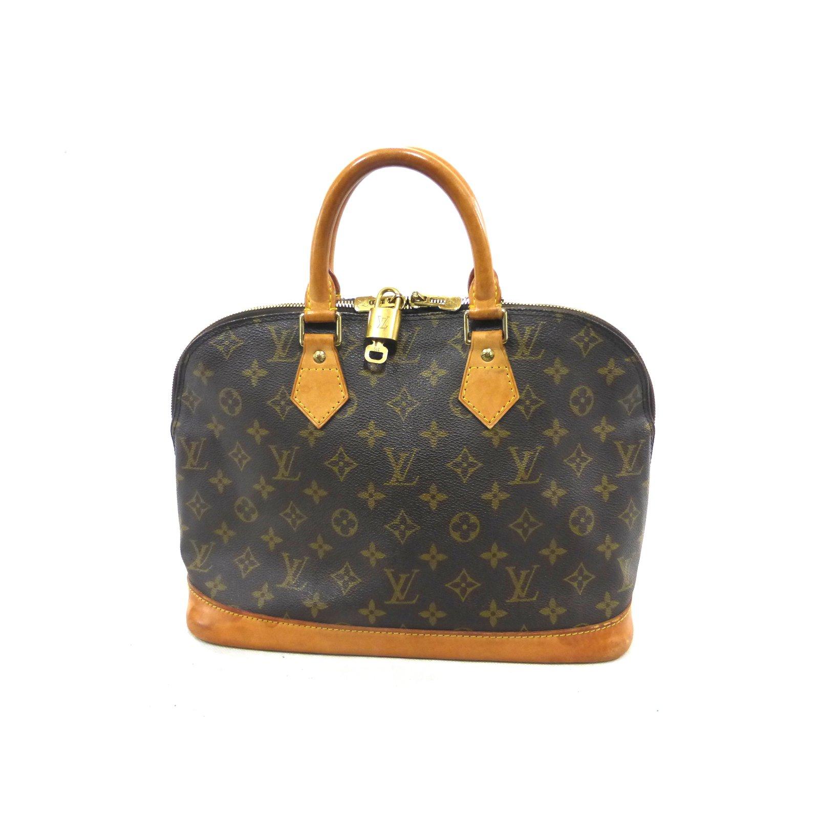2071b5a0f4f1 Louis Vuitton ALMA MONOGRAM Handbags Leather Brown ref.99337 - Joli ...