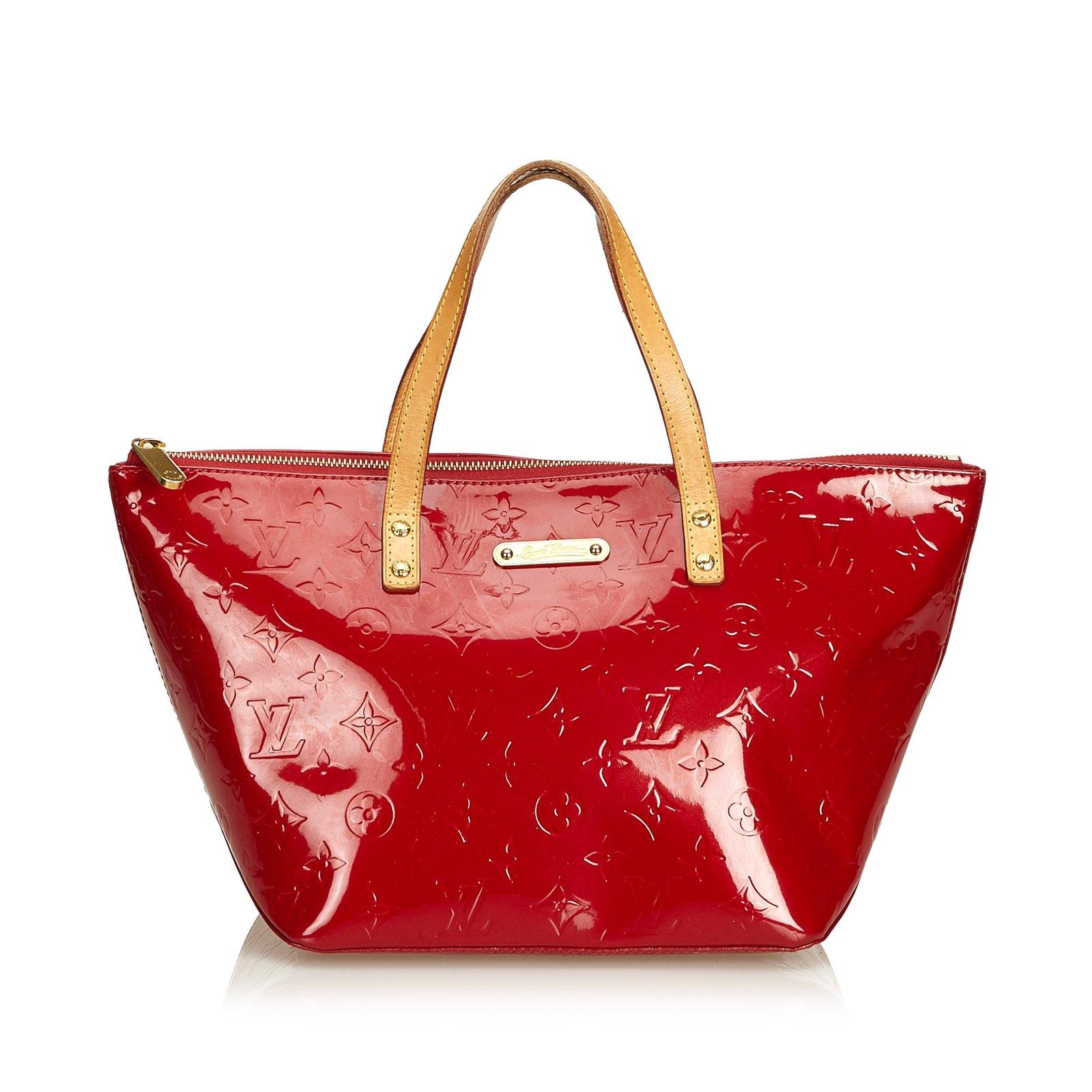 d777b5d96e Sacs à main Louis Vuitton Vernis Bellevue PM Cuir,Cuir vernis Rouge  ref.99402