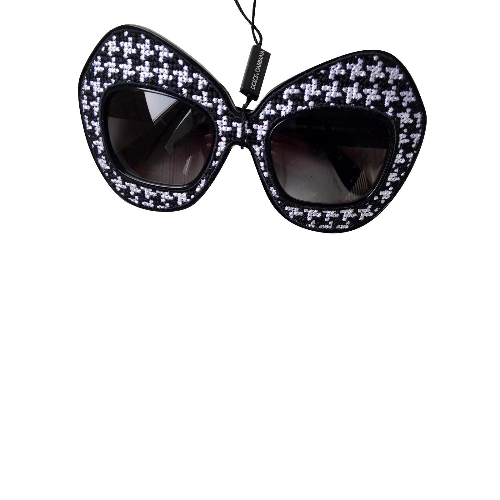 Dolce Lunettes Et Blanc Gabbana Noir oBCrdxe