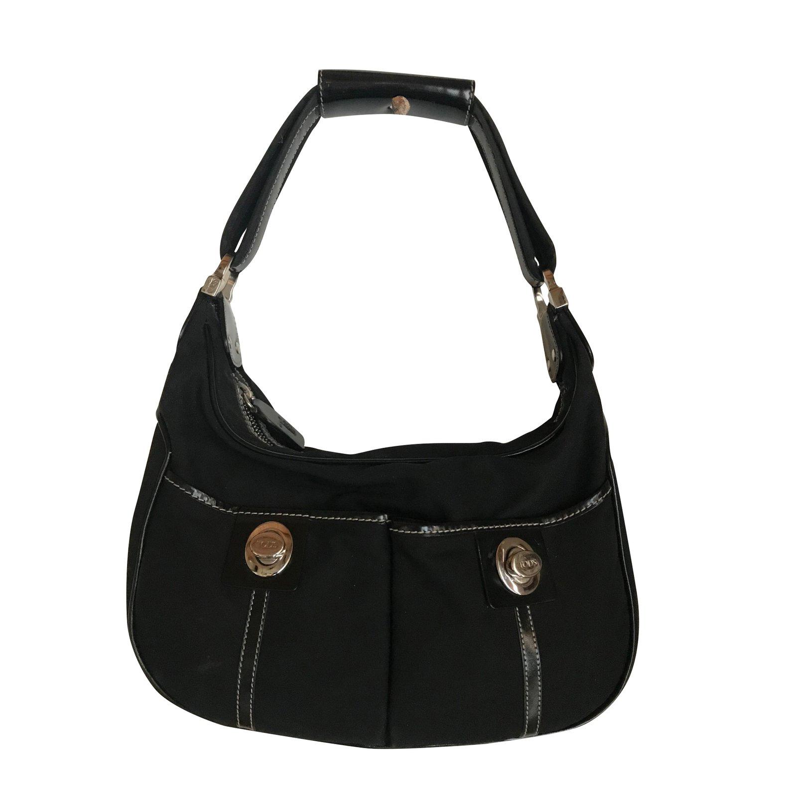 Tod s Tod s bag Handbags Cloth Black ref.100634 - Joli Closet 9007f17ea24d6