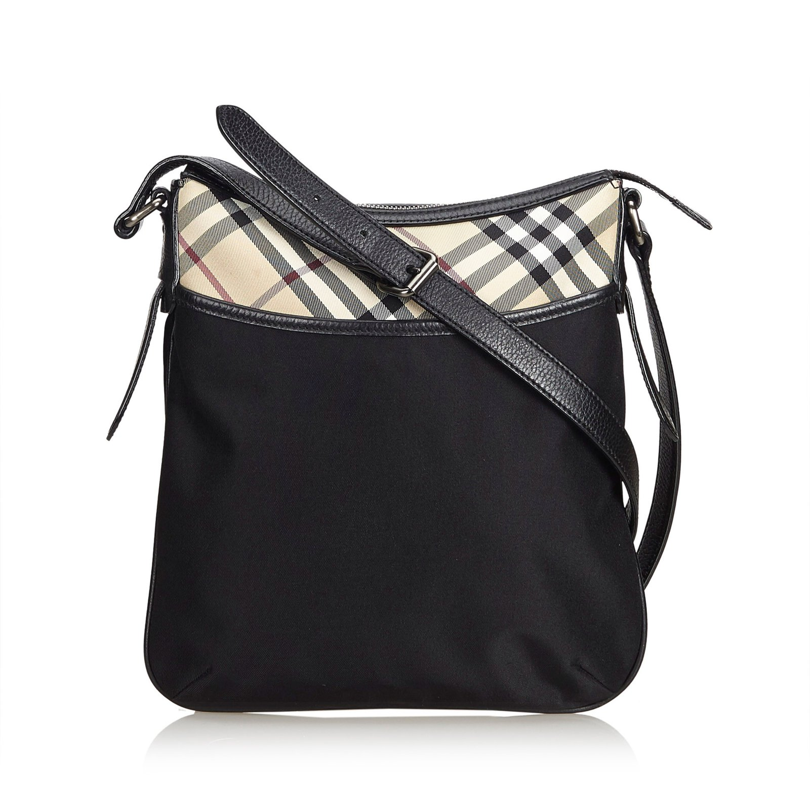 1e35ad7a7e Burberry Plaid Nylon Crossbody Handbags Leather,Other,Nylon,Cloth Black,Multiple  colors